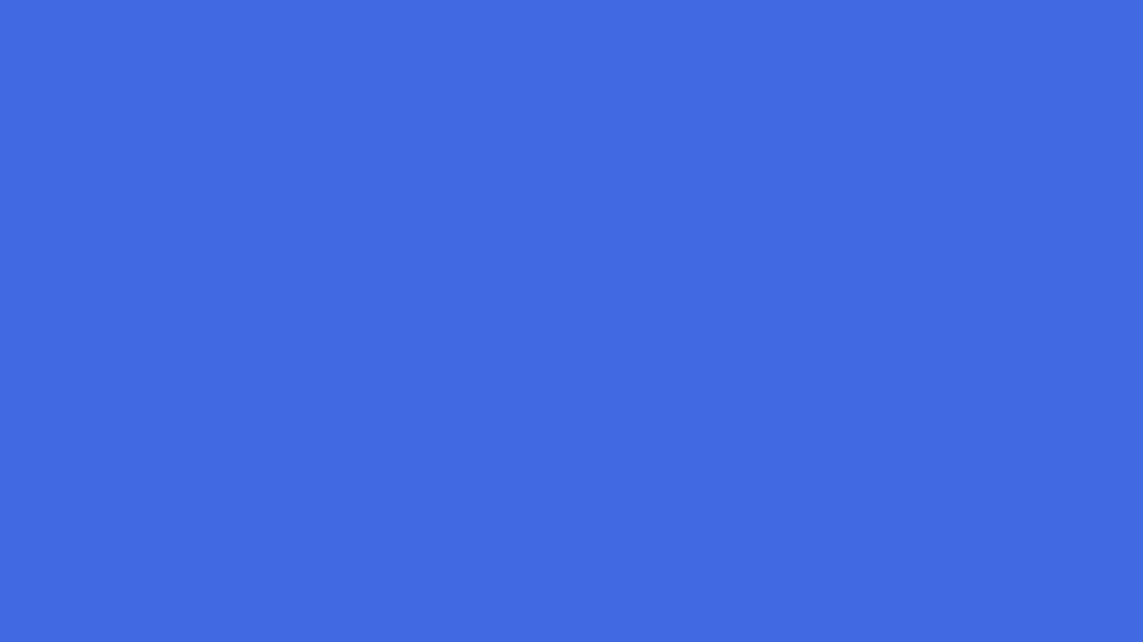 1600x900 Royal Blue Web Solid Color Background