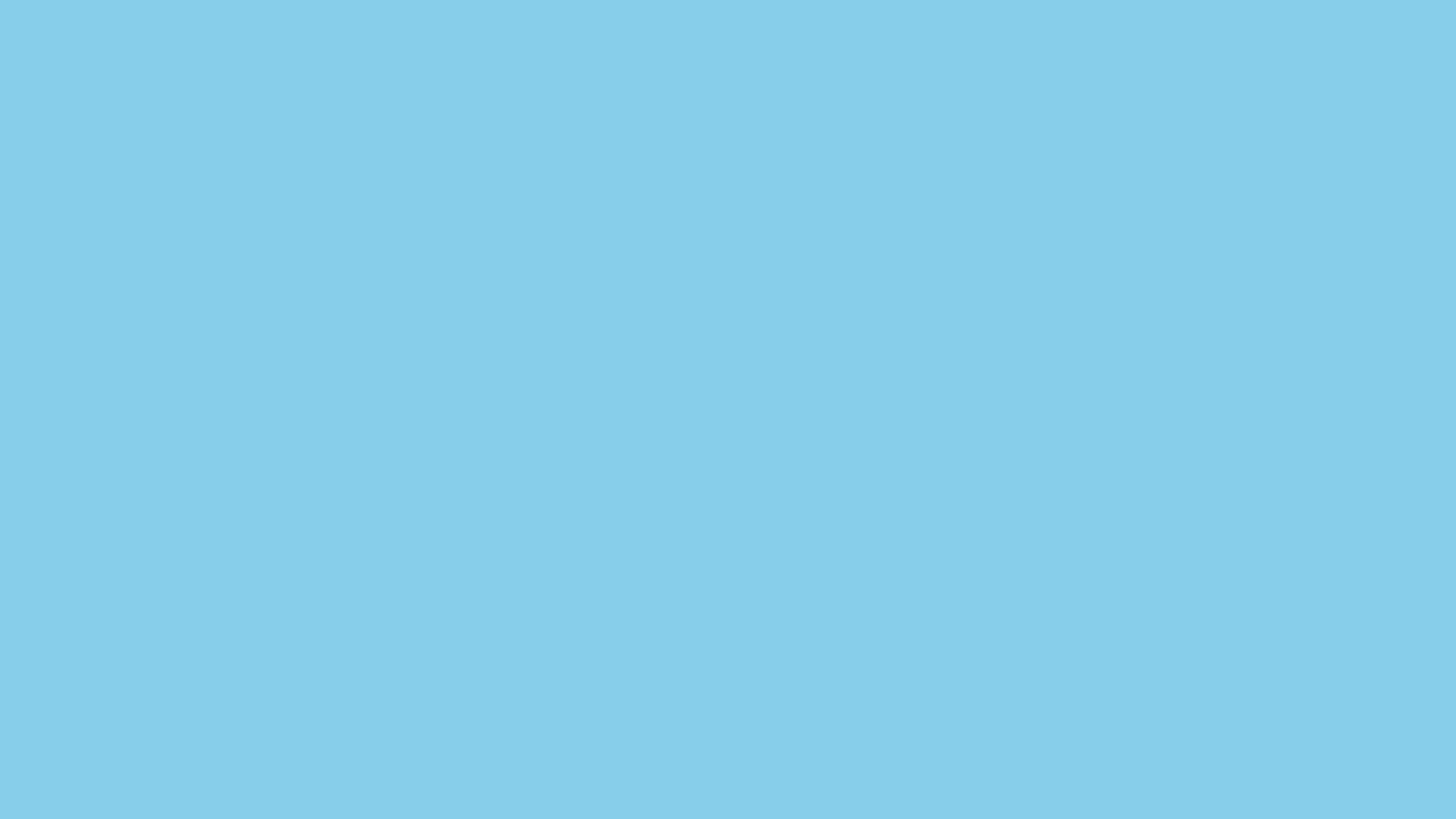 1600x900 Sky Blue Solid Color Background