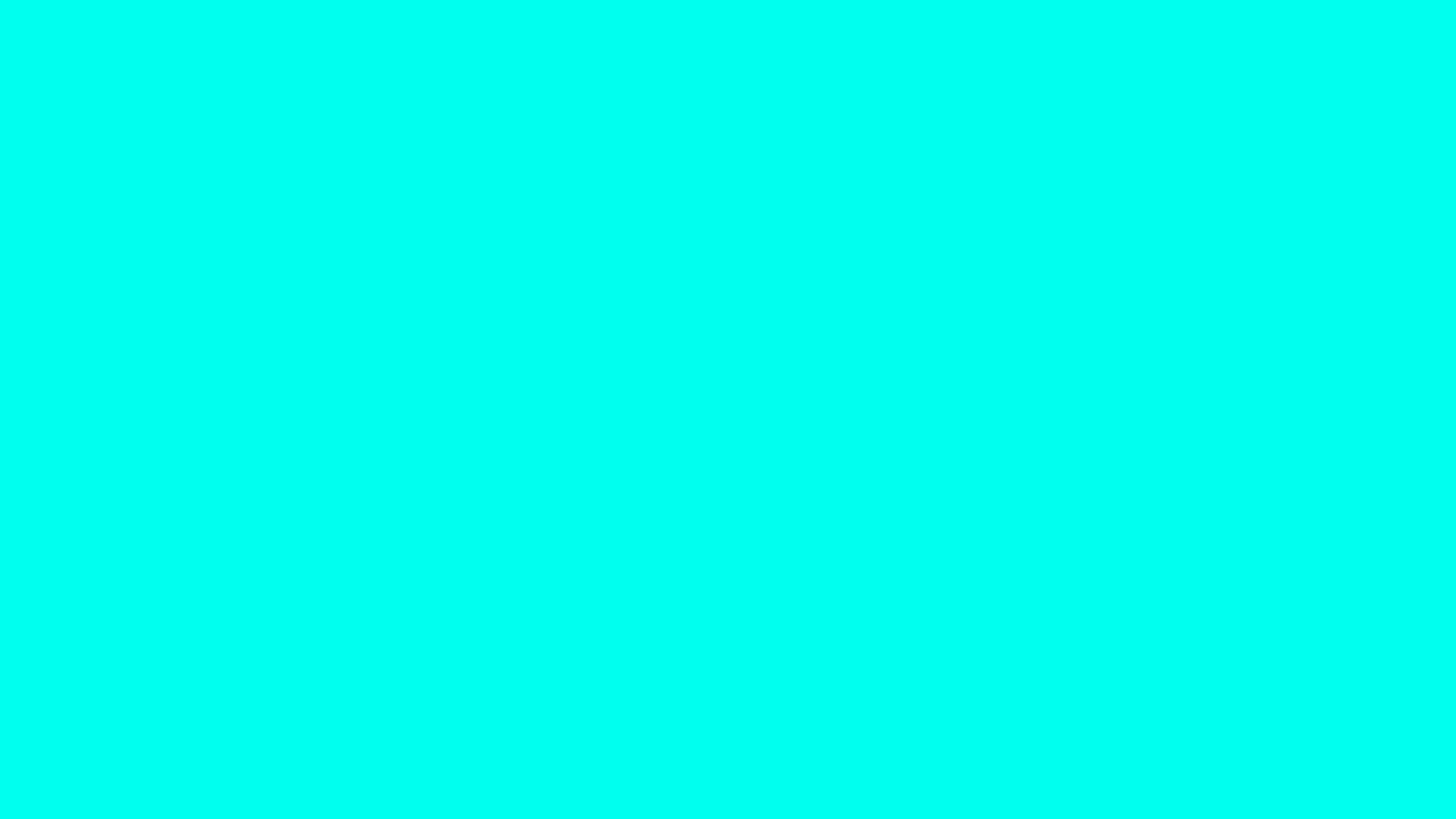 1600x900 Turquoise Blue Solid Color Background