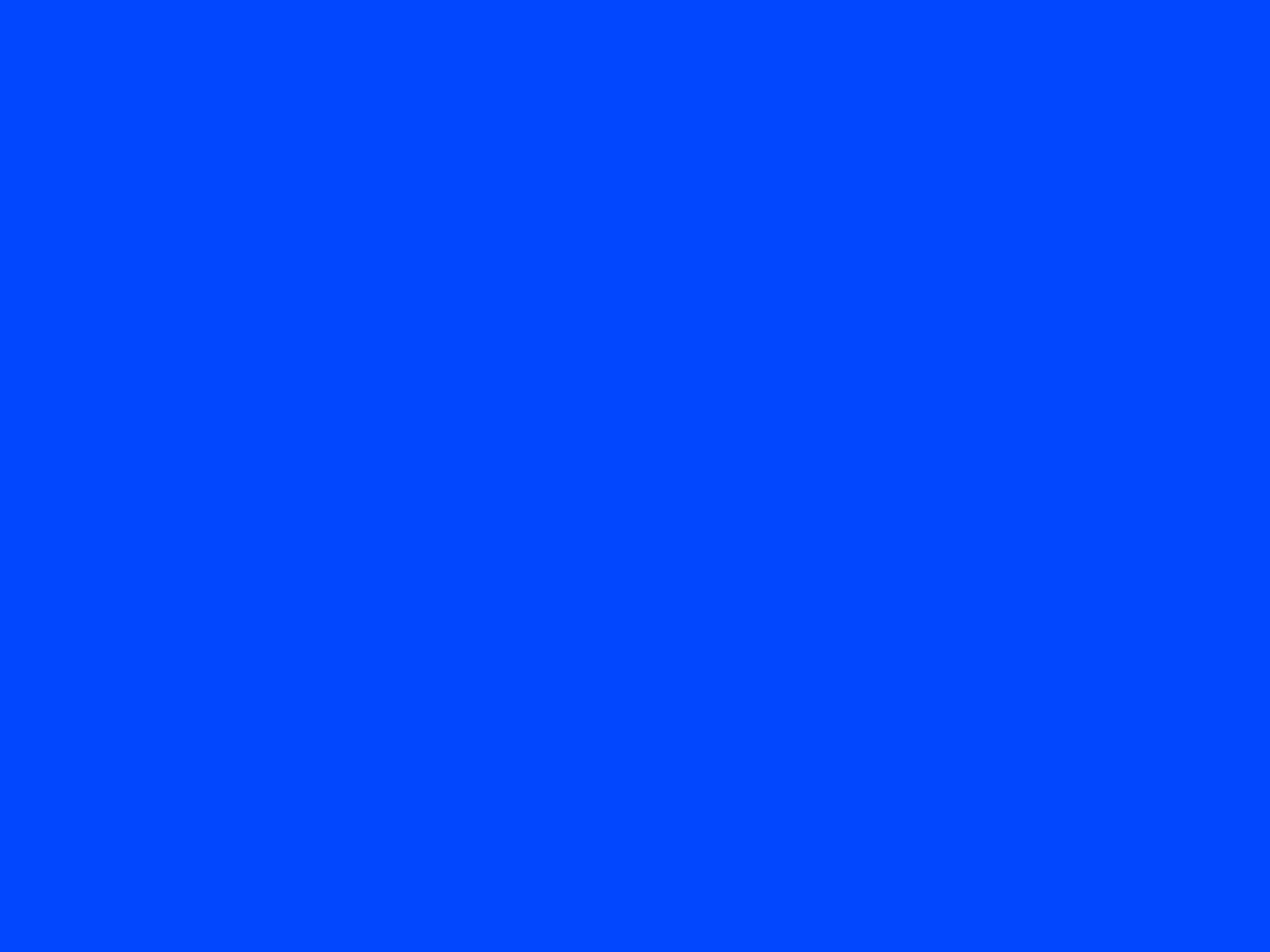 2048x1536 Blue RYB Solid Color Background