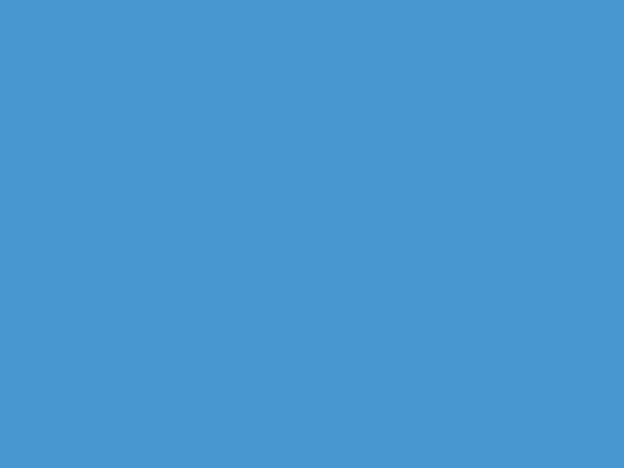 2048x1536 Celestial Blue Solid Color Background