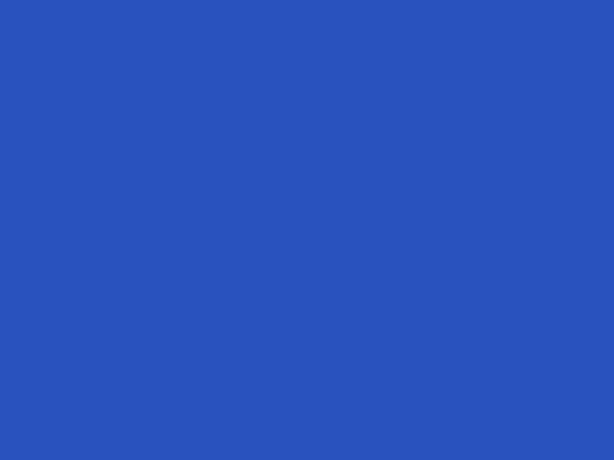2048x1536 Cerulean Blue Solid Color Background