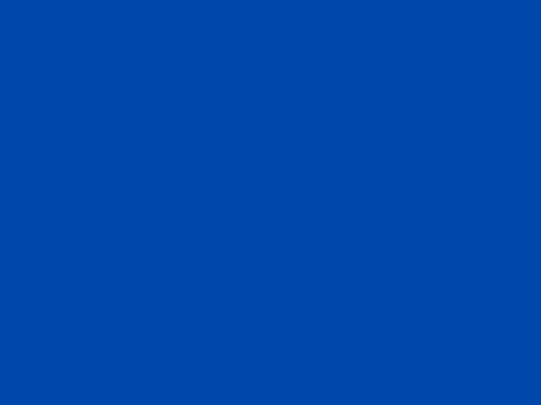 2048x1536 Cobalt Solid Color Background