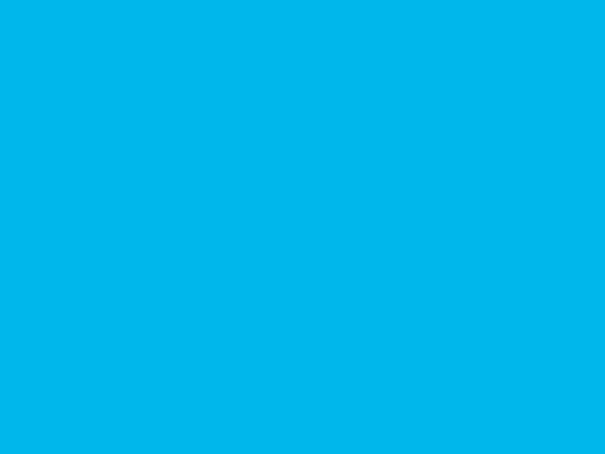 2048x1536 Cyan Process Solid Color Background