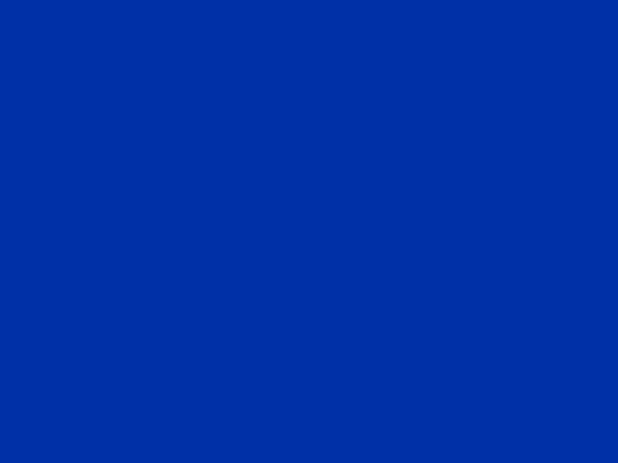 2048x1536 International Klein Blue Solid Color Background