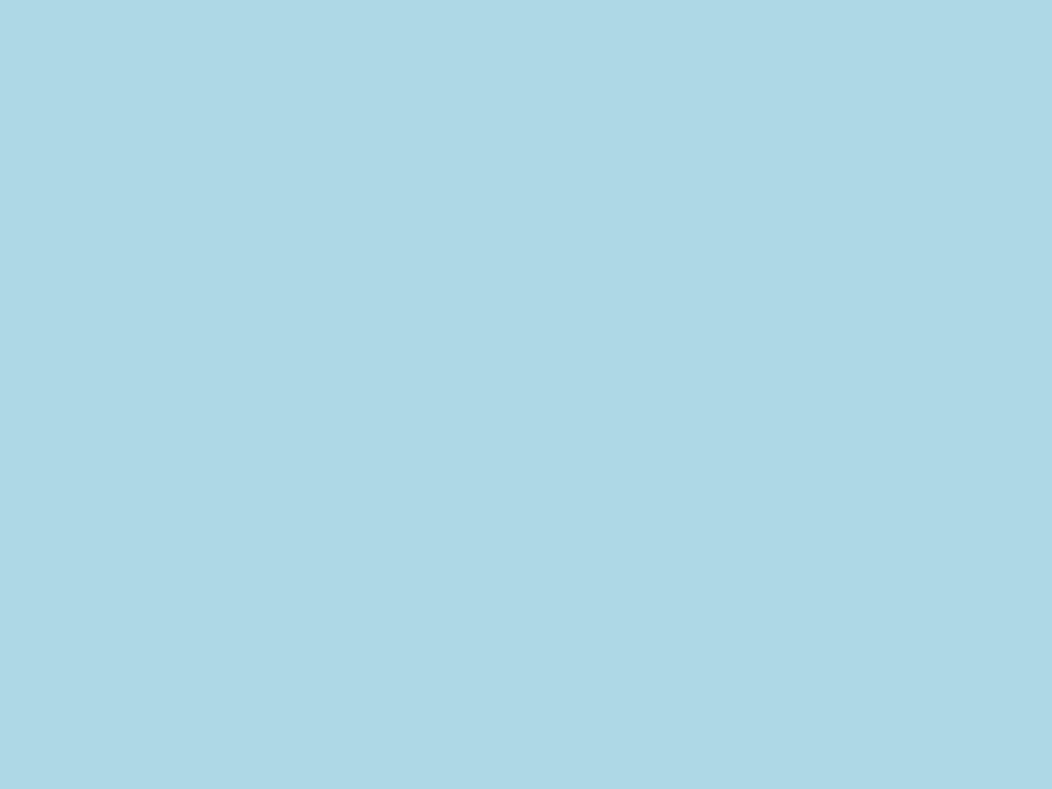 2048x1536 Light Blue Solid Color Background
