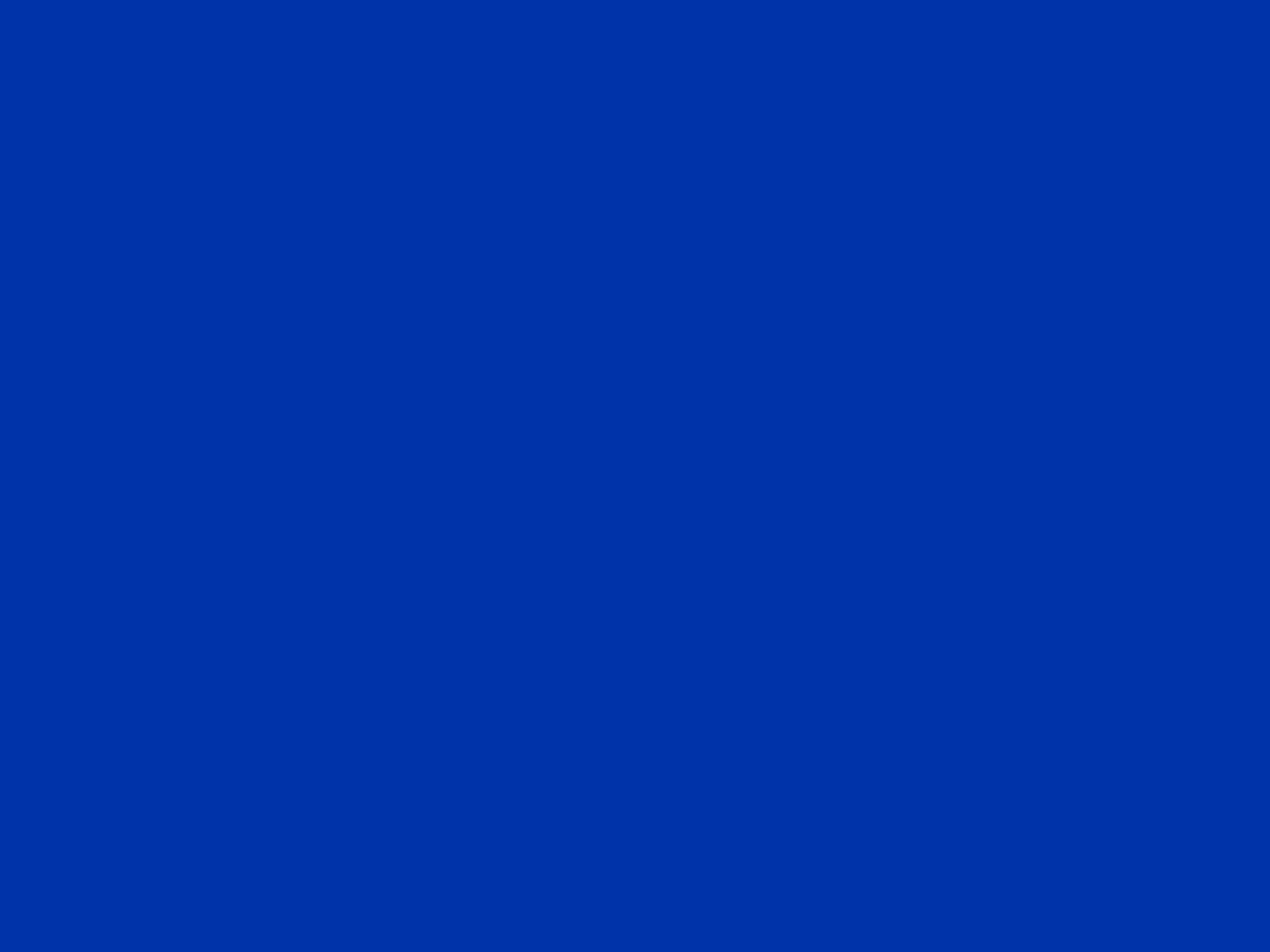 2048x1536 UA Blue Solid Color Background