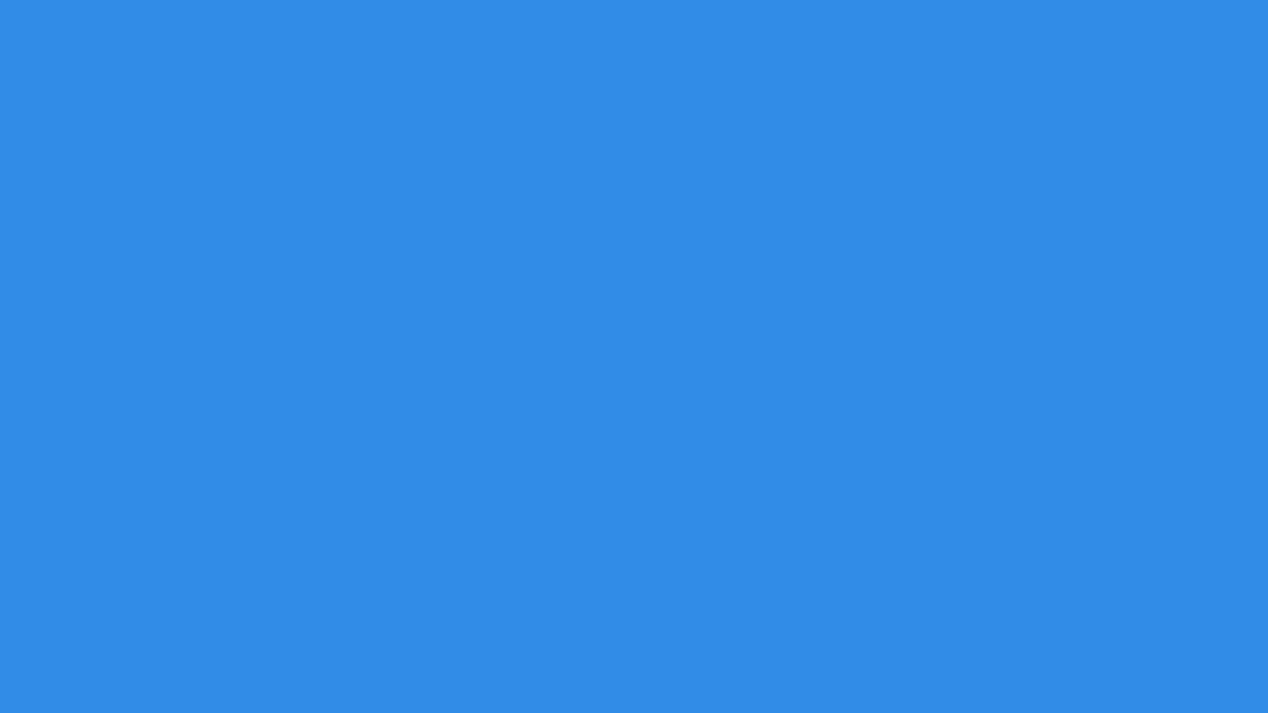 2560x1440 Bleu De France Solid Color Background