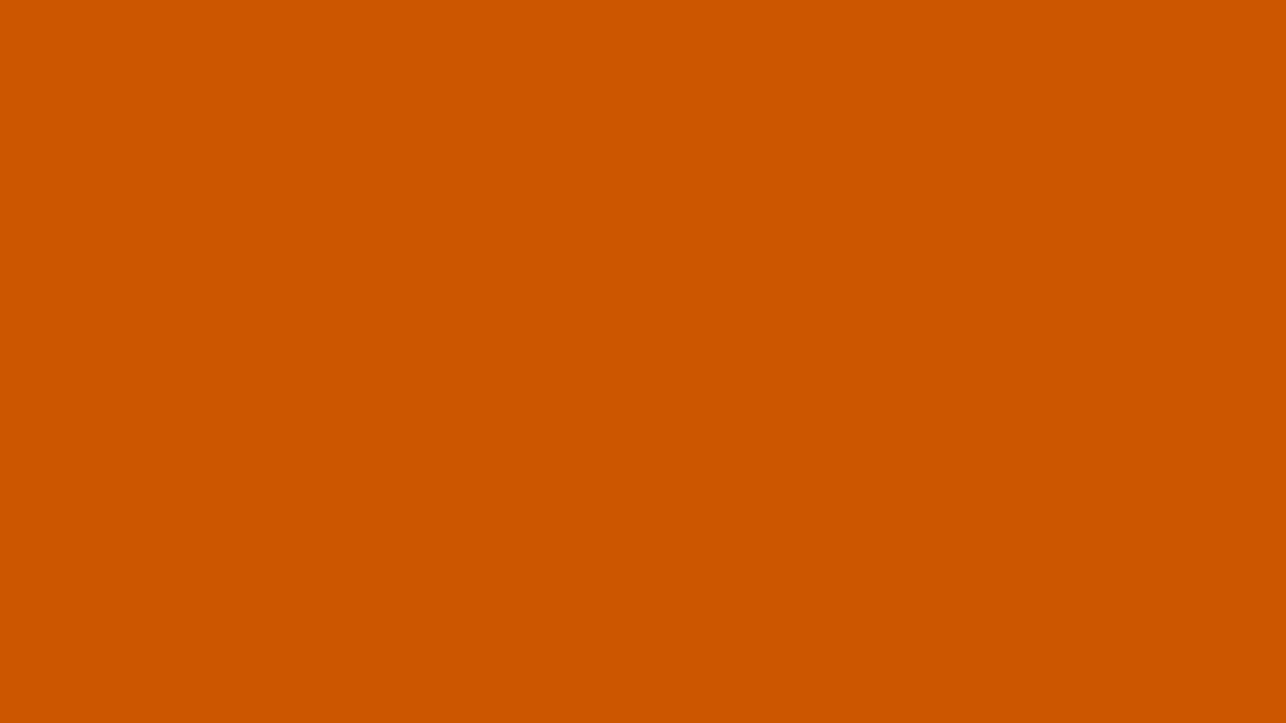 2560x1440 Burnt Orange Solid Color Background