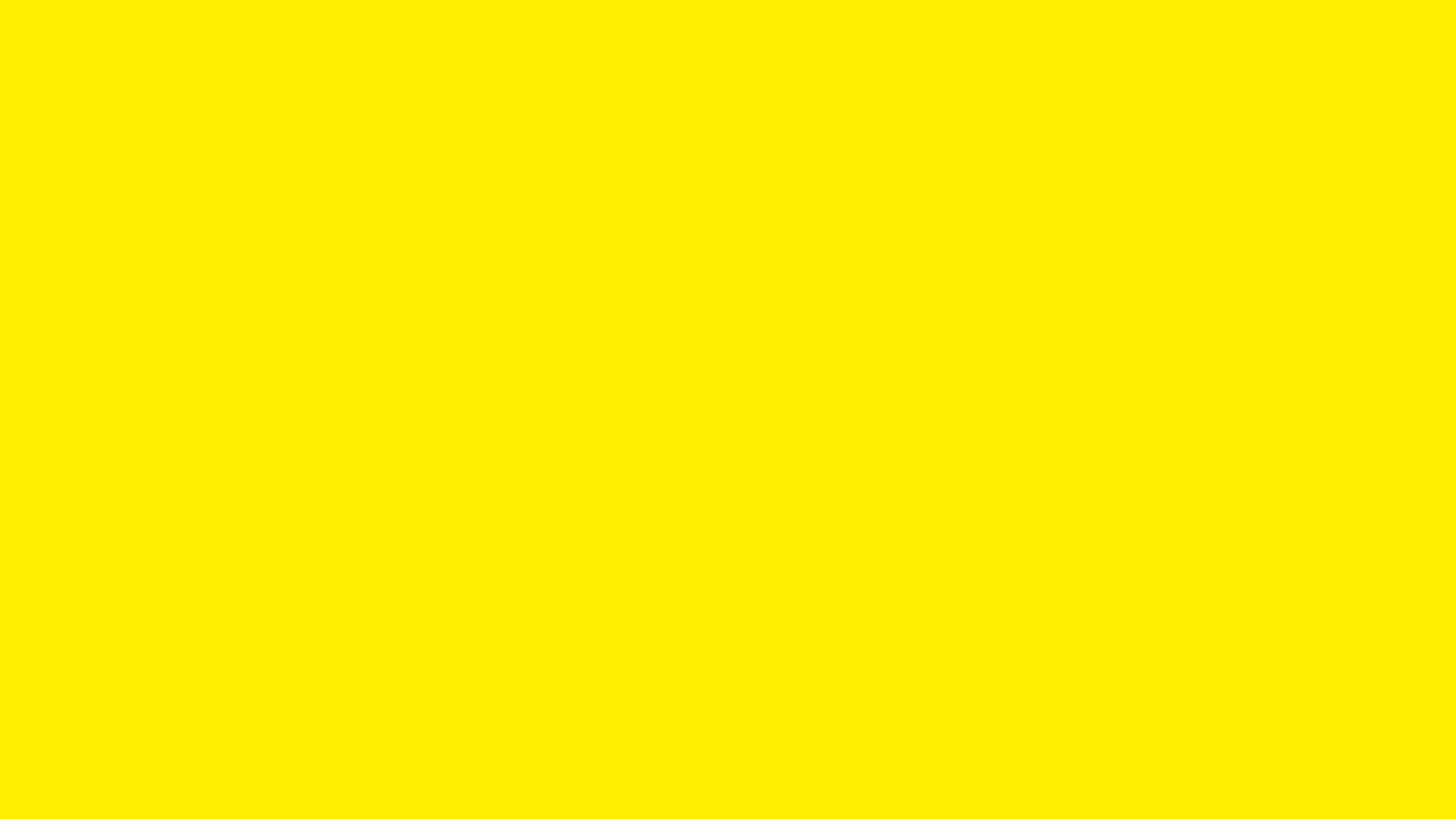 2560x1440 Canary Yellow Solid Color Background