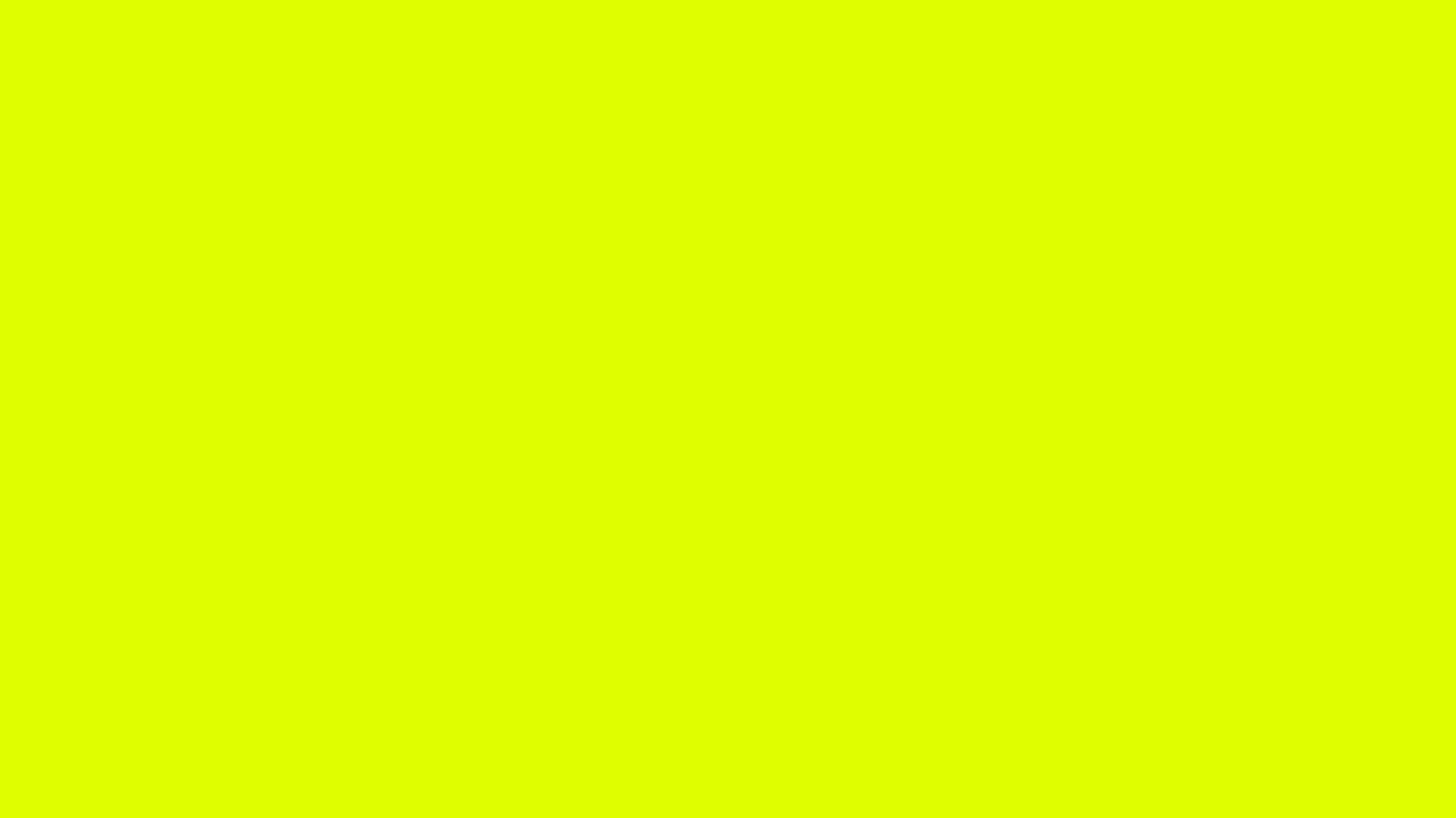 2560x1440 Chartreuse Traditional Solid Color Background