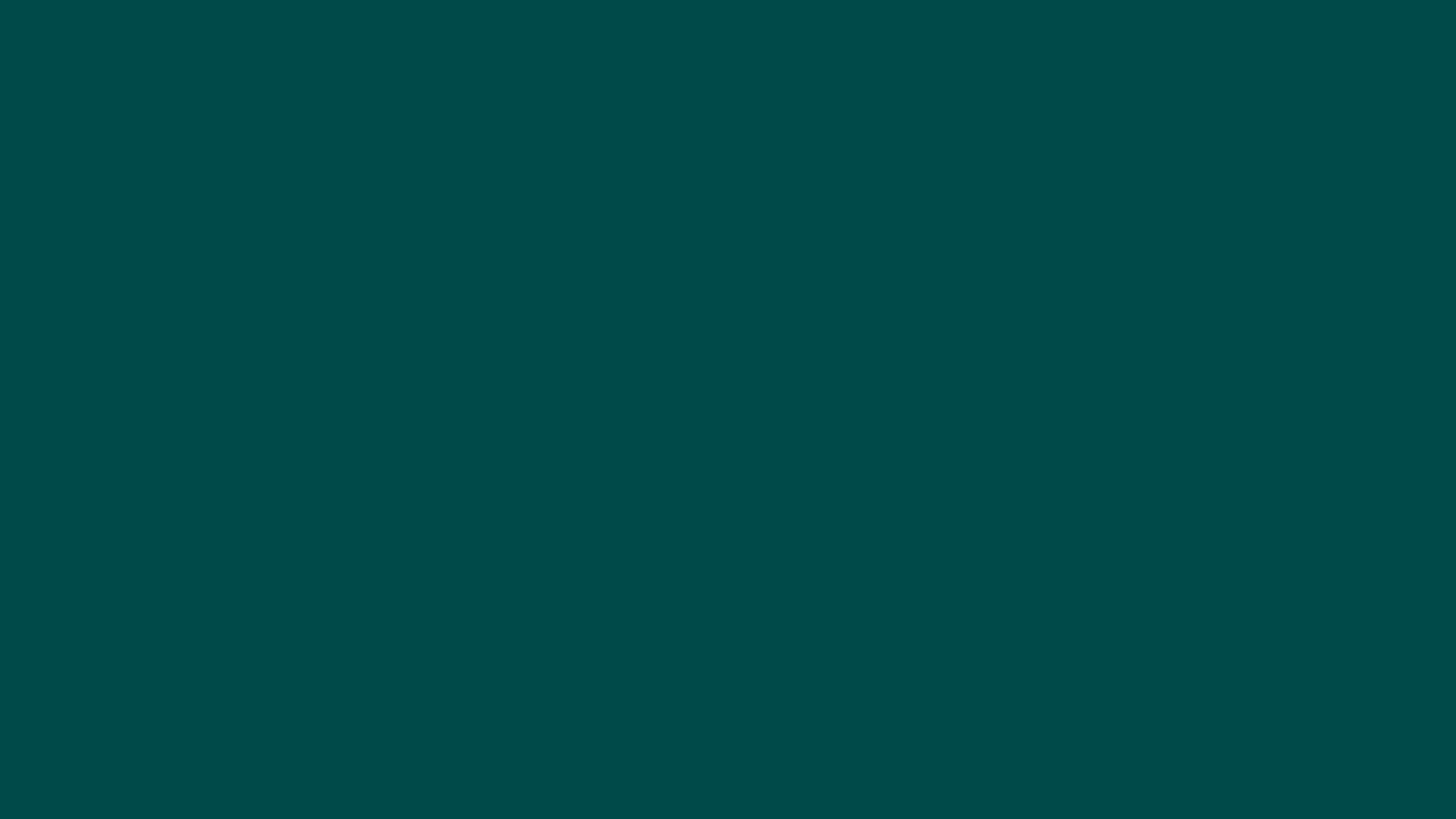 2560x1440 Deep Jungle Green Solid Color Background