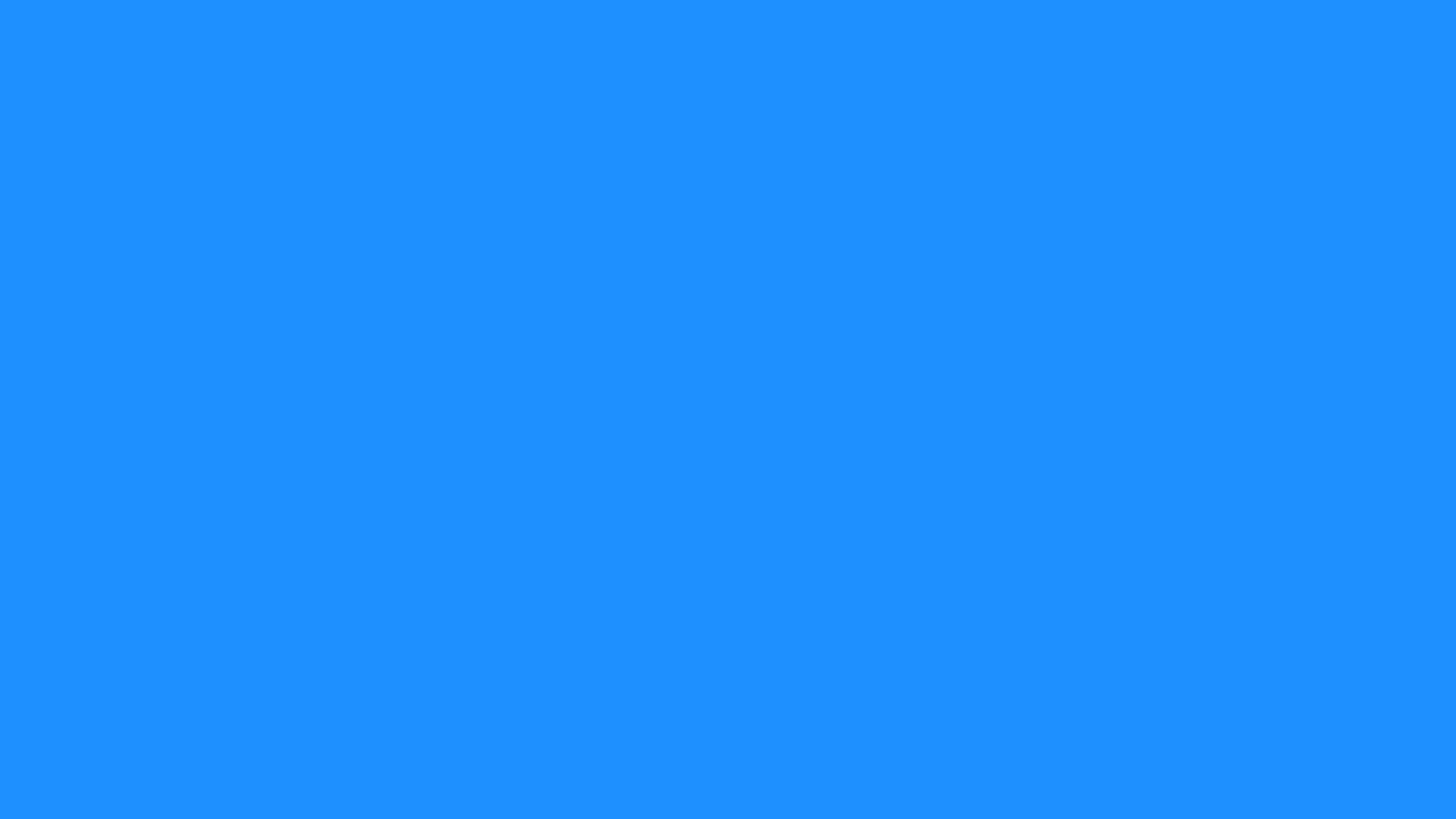 2560x1440 Dodger Blue Solid Color Background