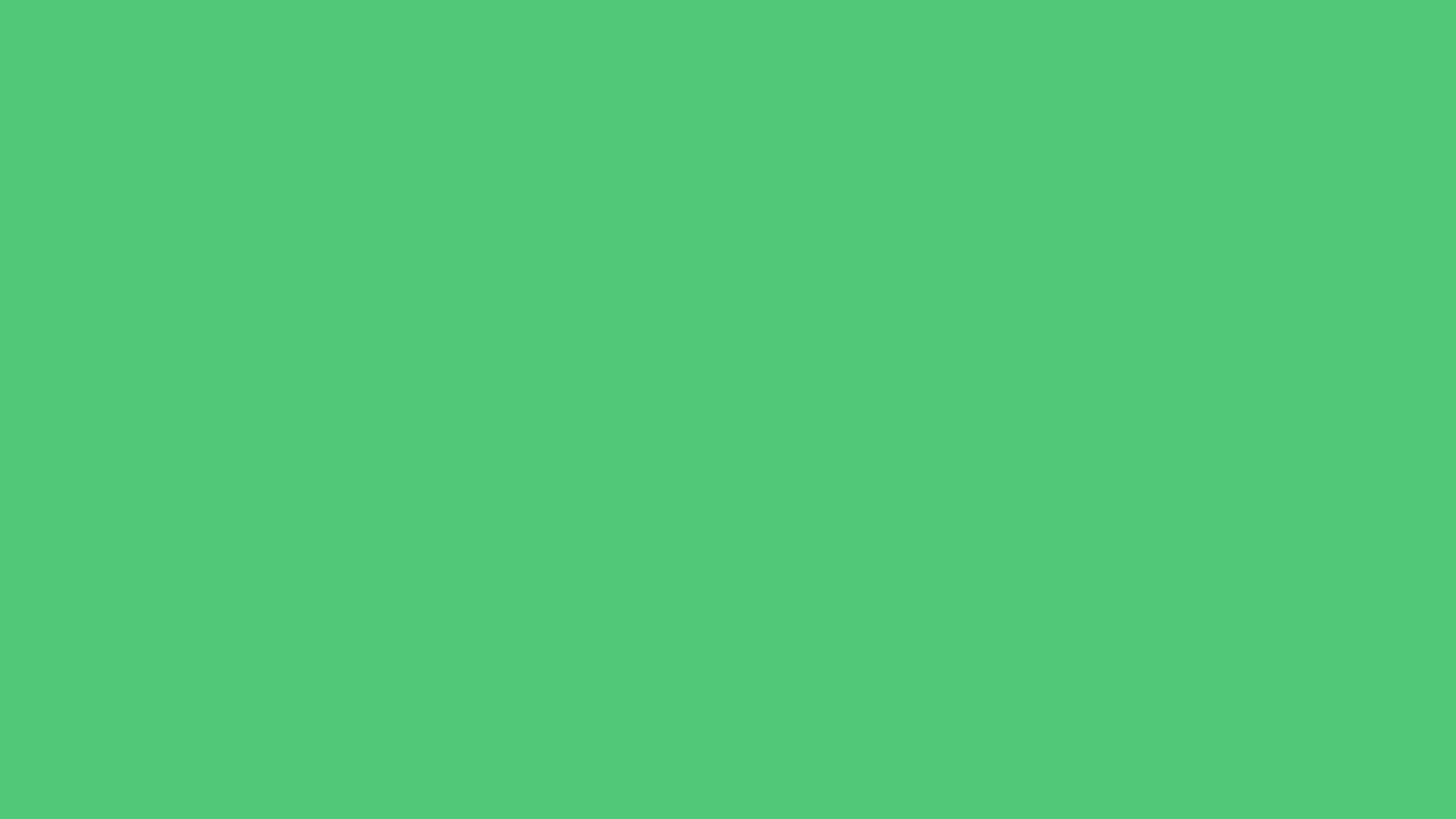 2560x1440 Emerald Solid Color Background