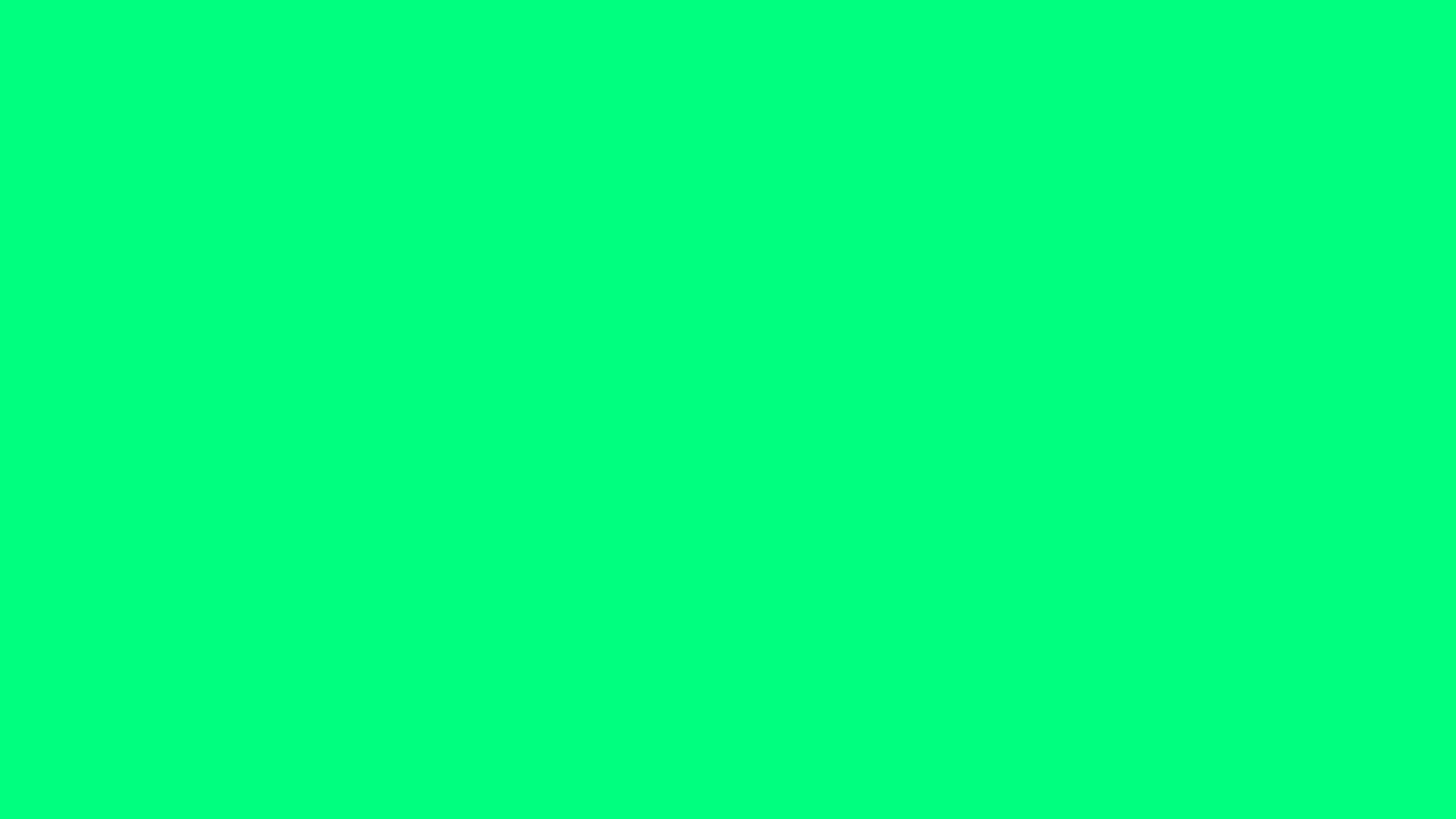 2560x1440 Guppie Green Solid Color Background