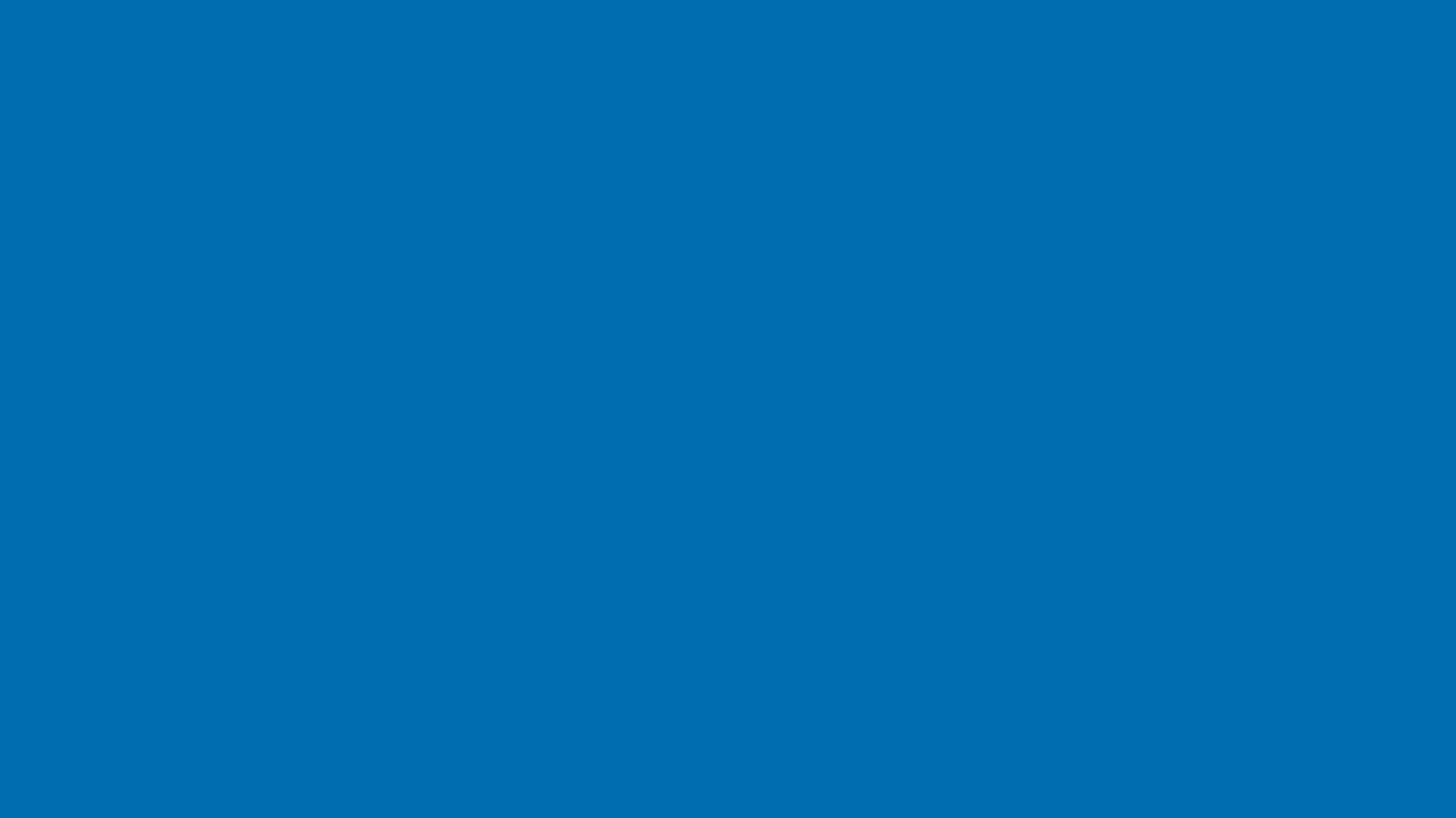 2560x1440 Honolulu Blue Solid Color Background