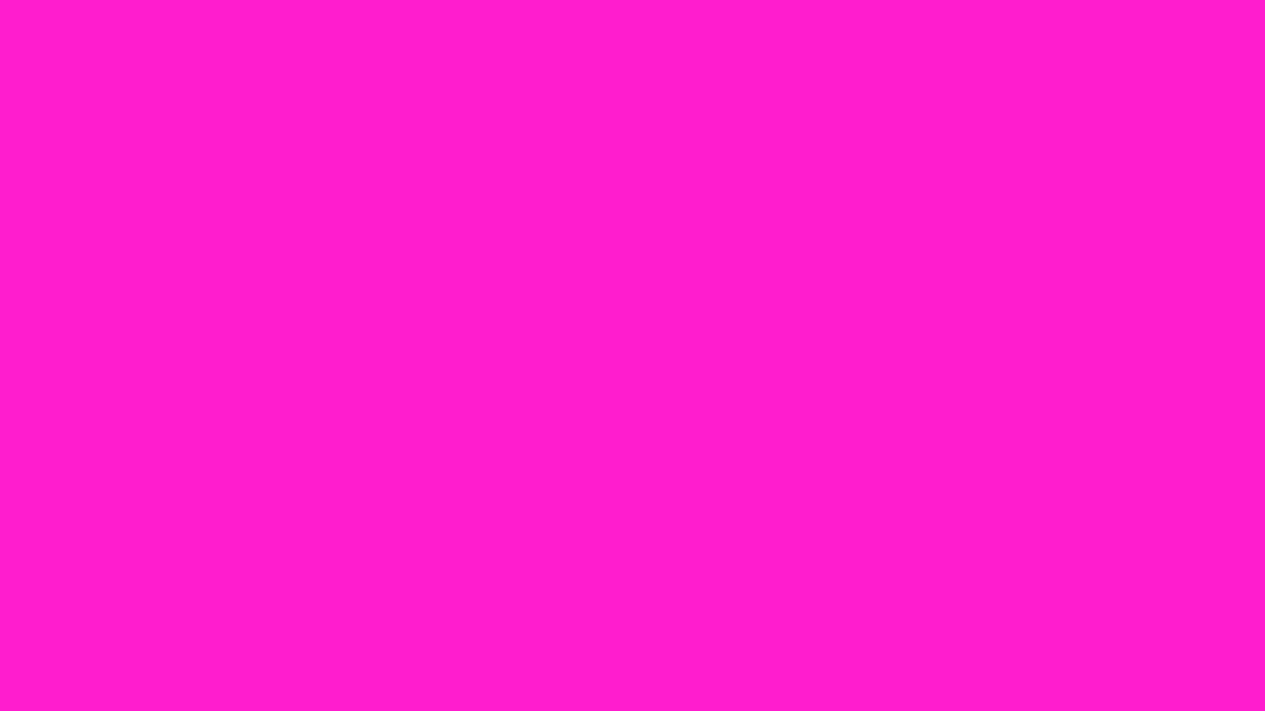 2560x1440 Hot Magenta Solid Color Background