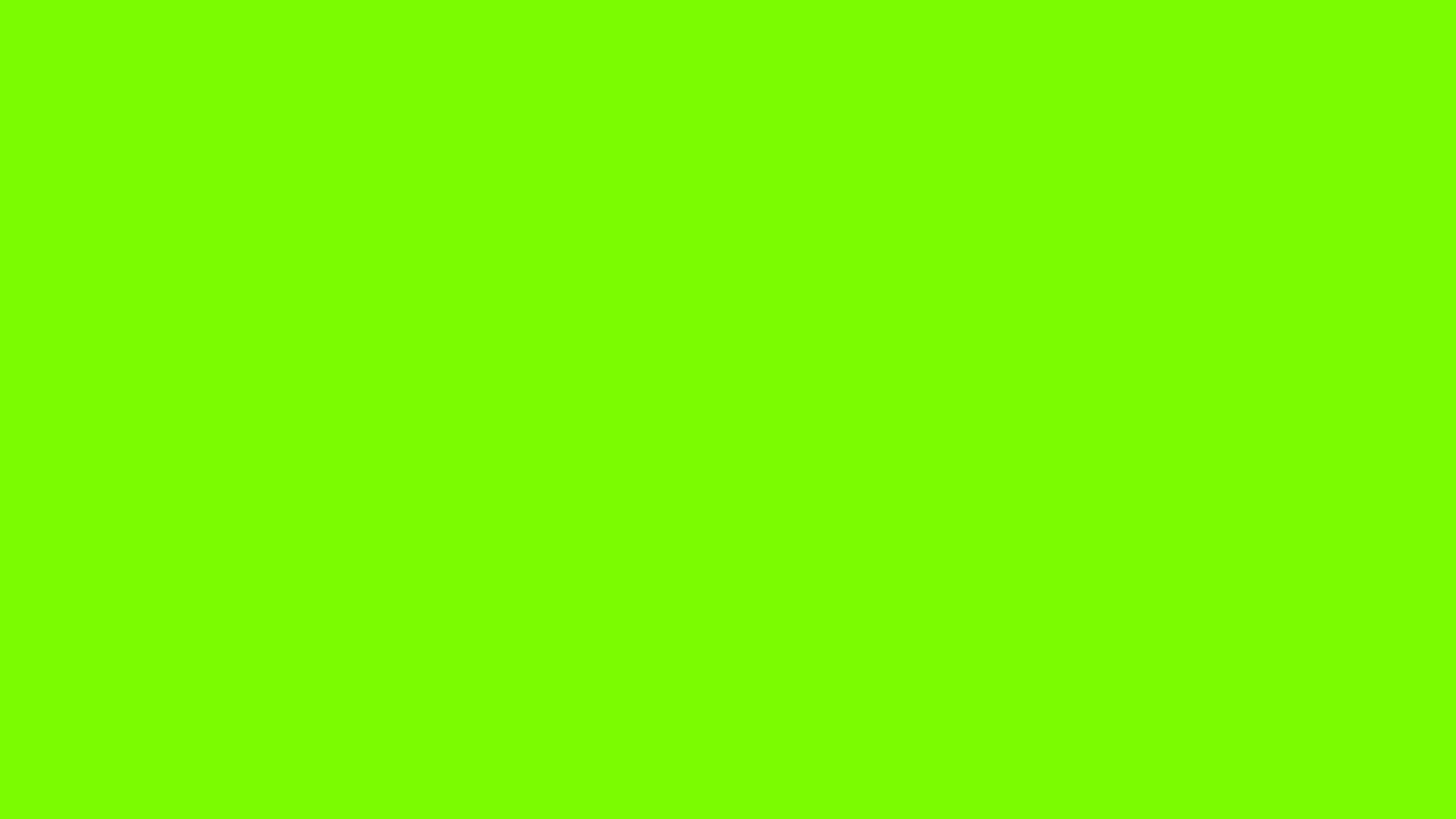 2560x1440 Lawn Green Solid Color Background