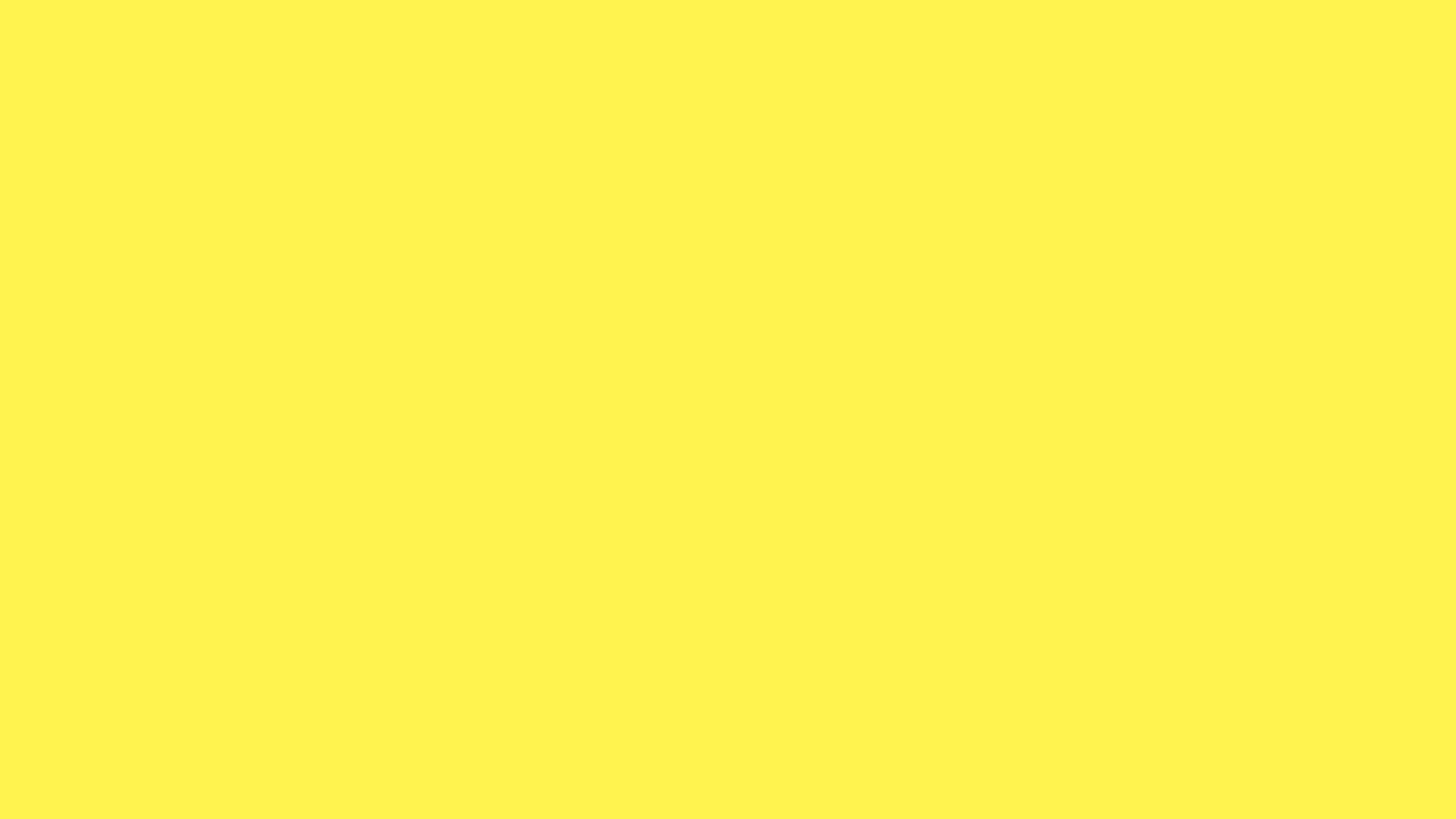2560x1440 Lemon Yellow Solid Color Background