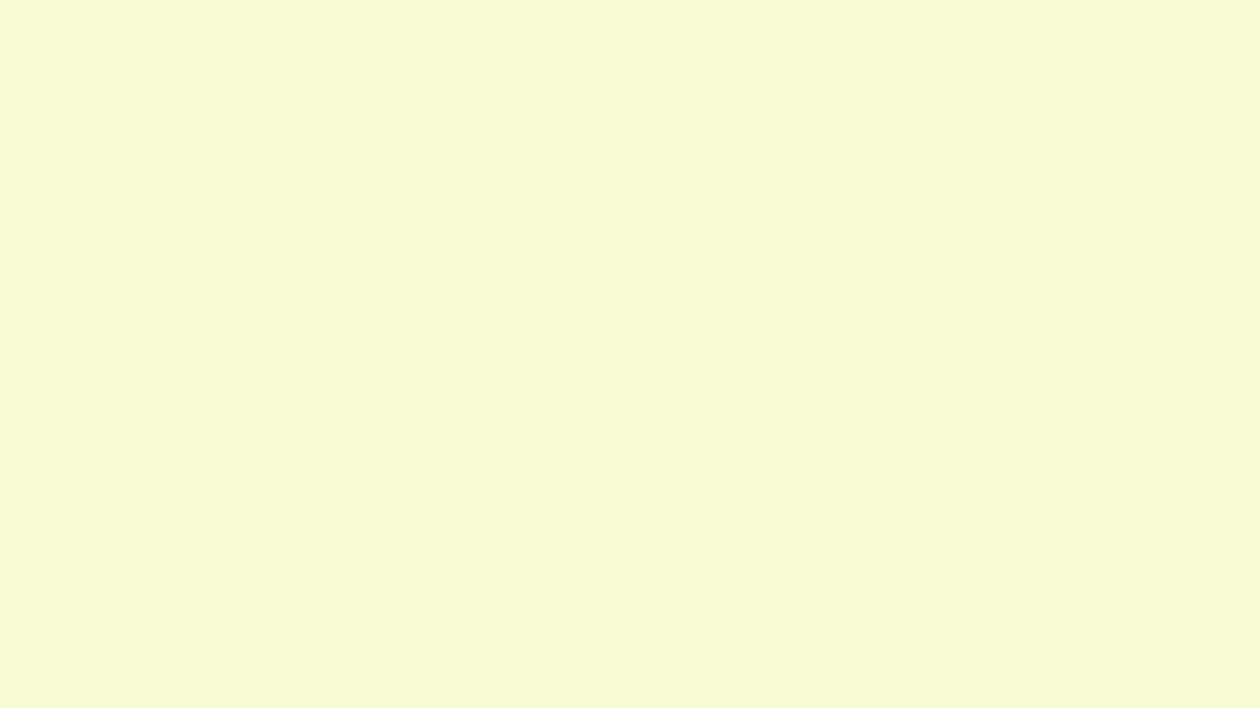 2560x1440 Light Goldenrod Yellow Solid Color Background