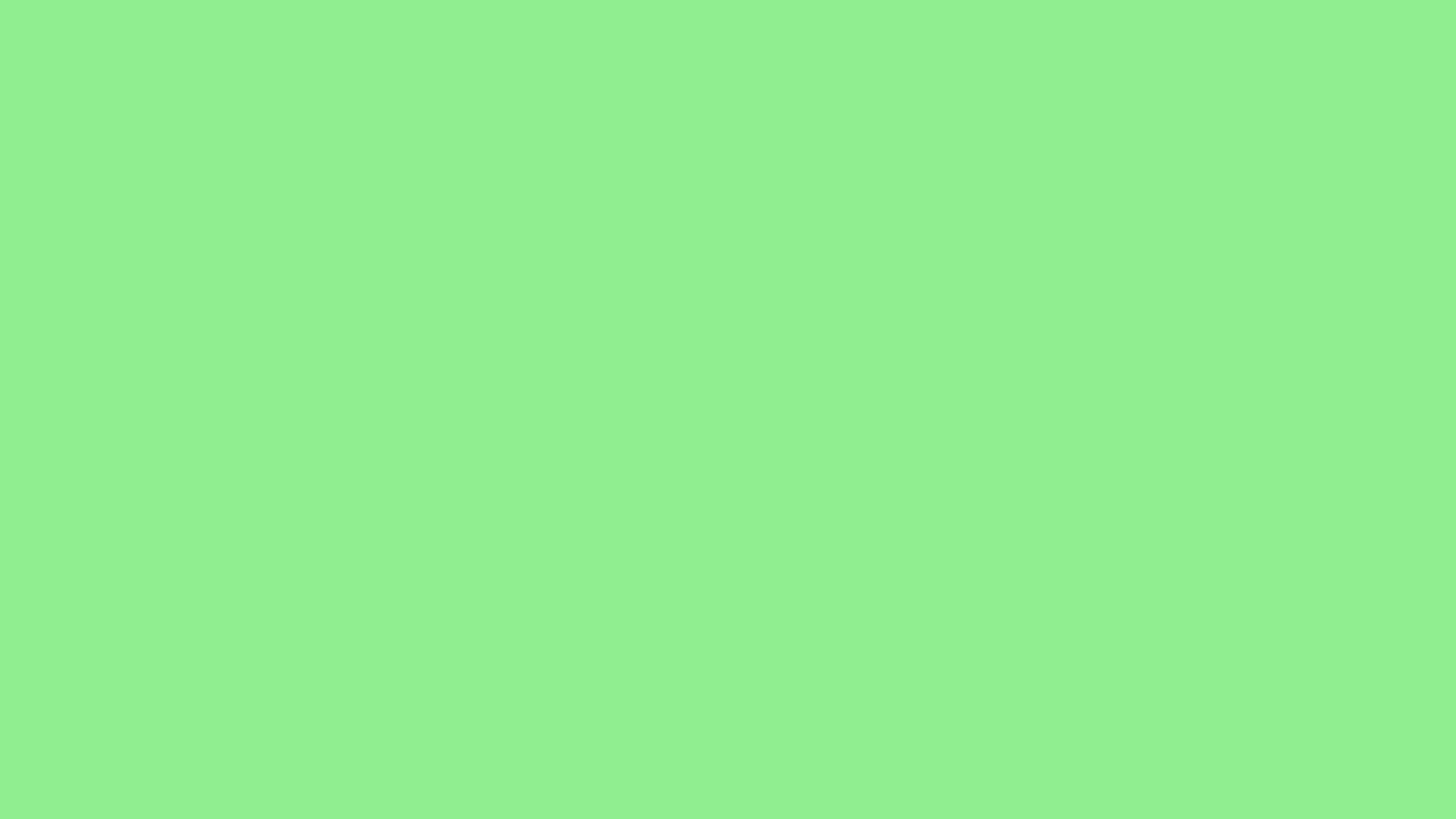 2560x1440 Light Green Solid Color Background