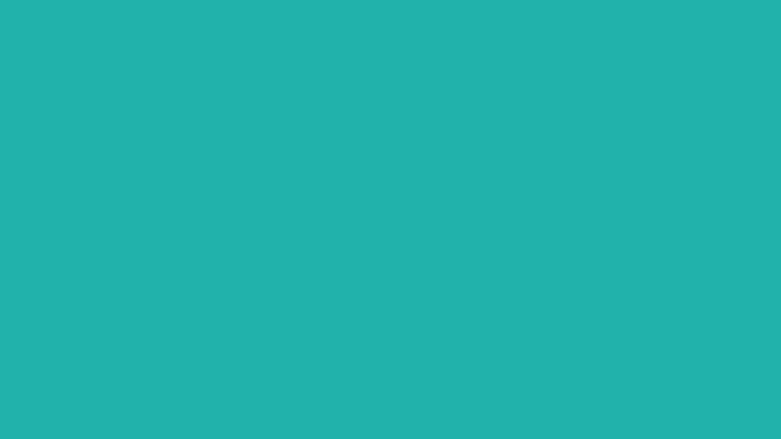 2560x1440 Light Sea Green Solid Color Background