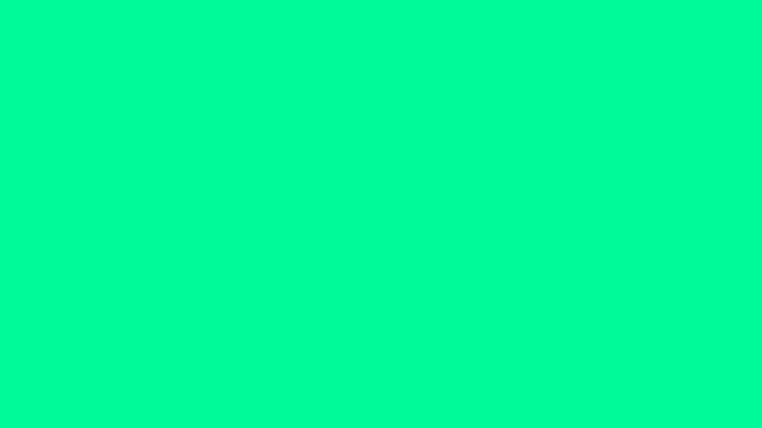 2560x1440 Medium Spring Green Solid Color Background