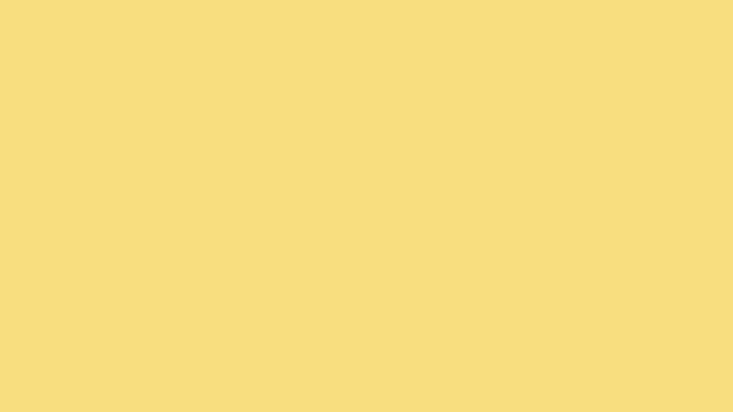 2560x1440 Mellow Yellow Solid Color Background