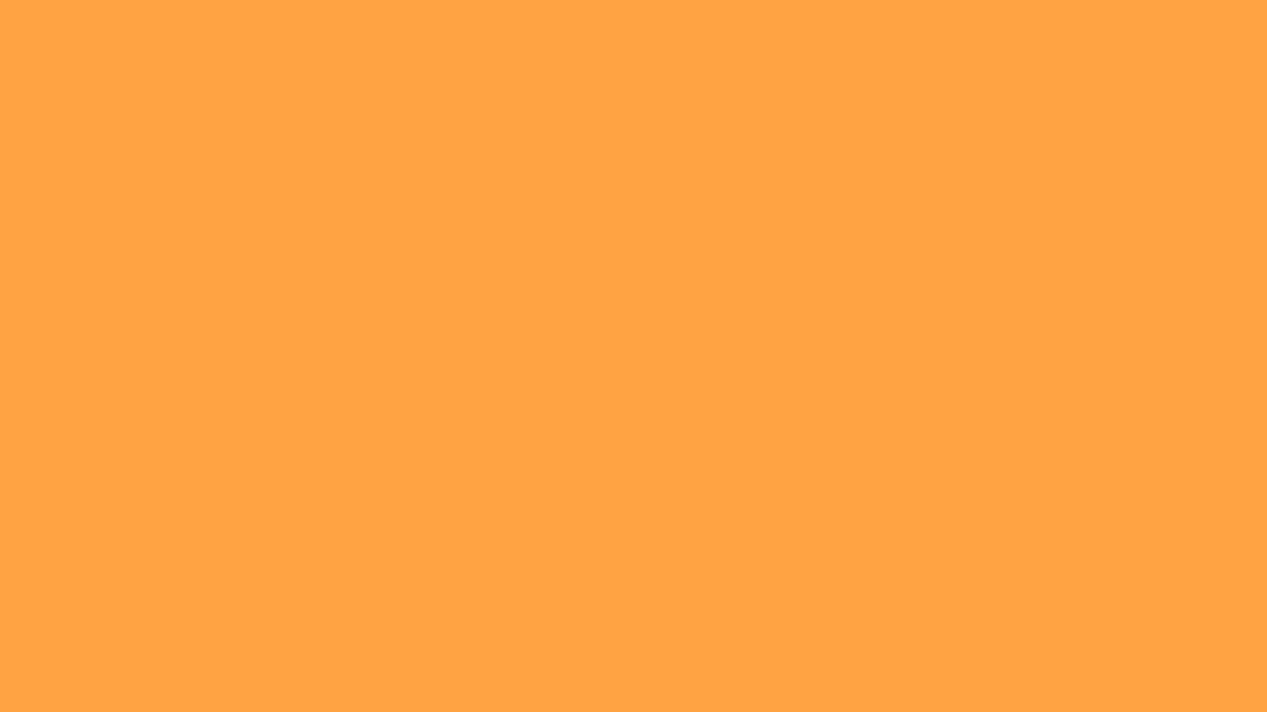 2560x1440 Neon Carrot Solid Color Background