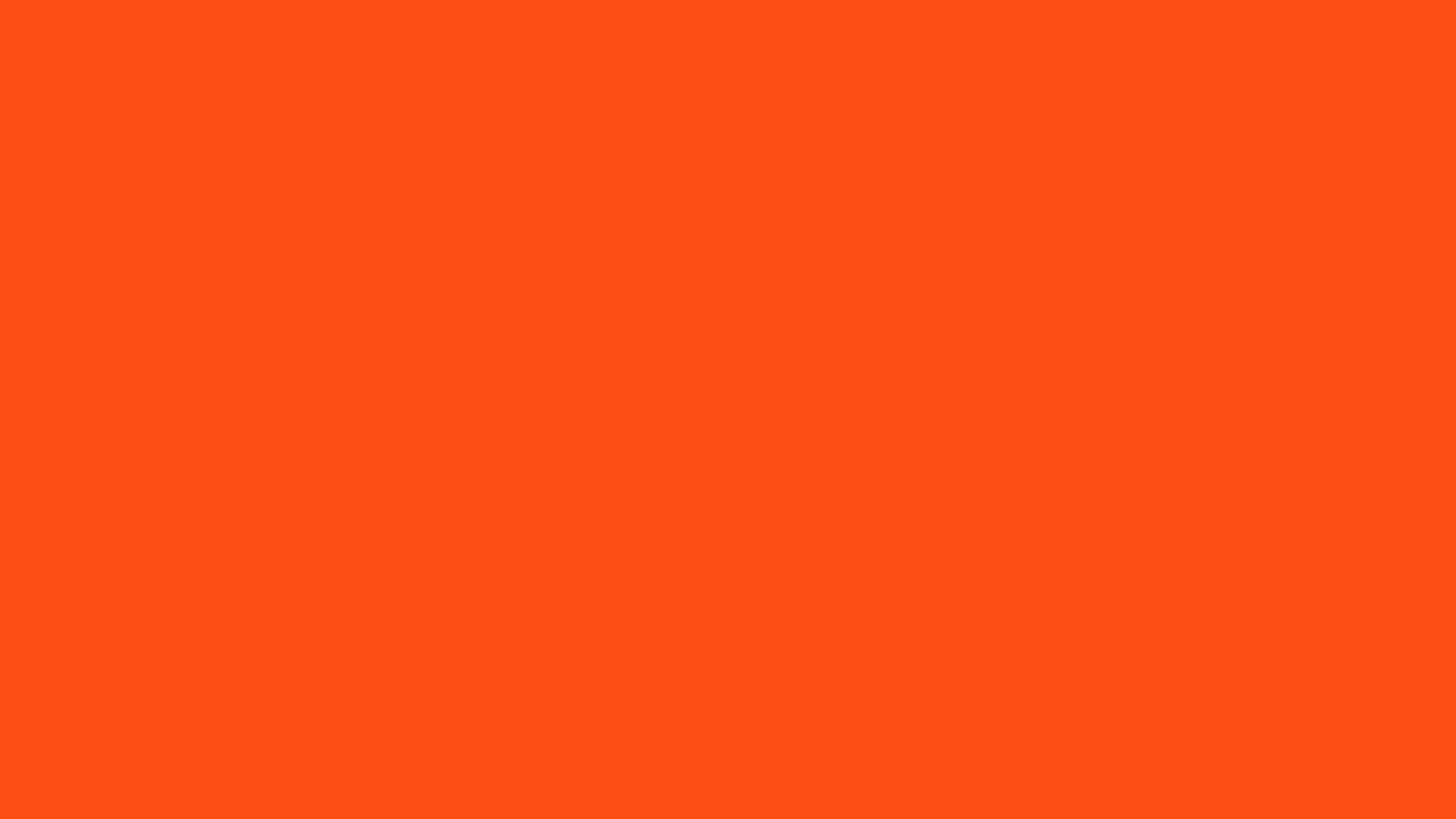 2560x1440 Orioles Orange Solid Color Background