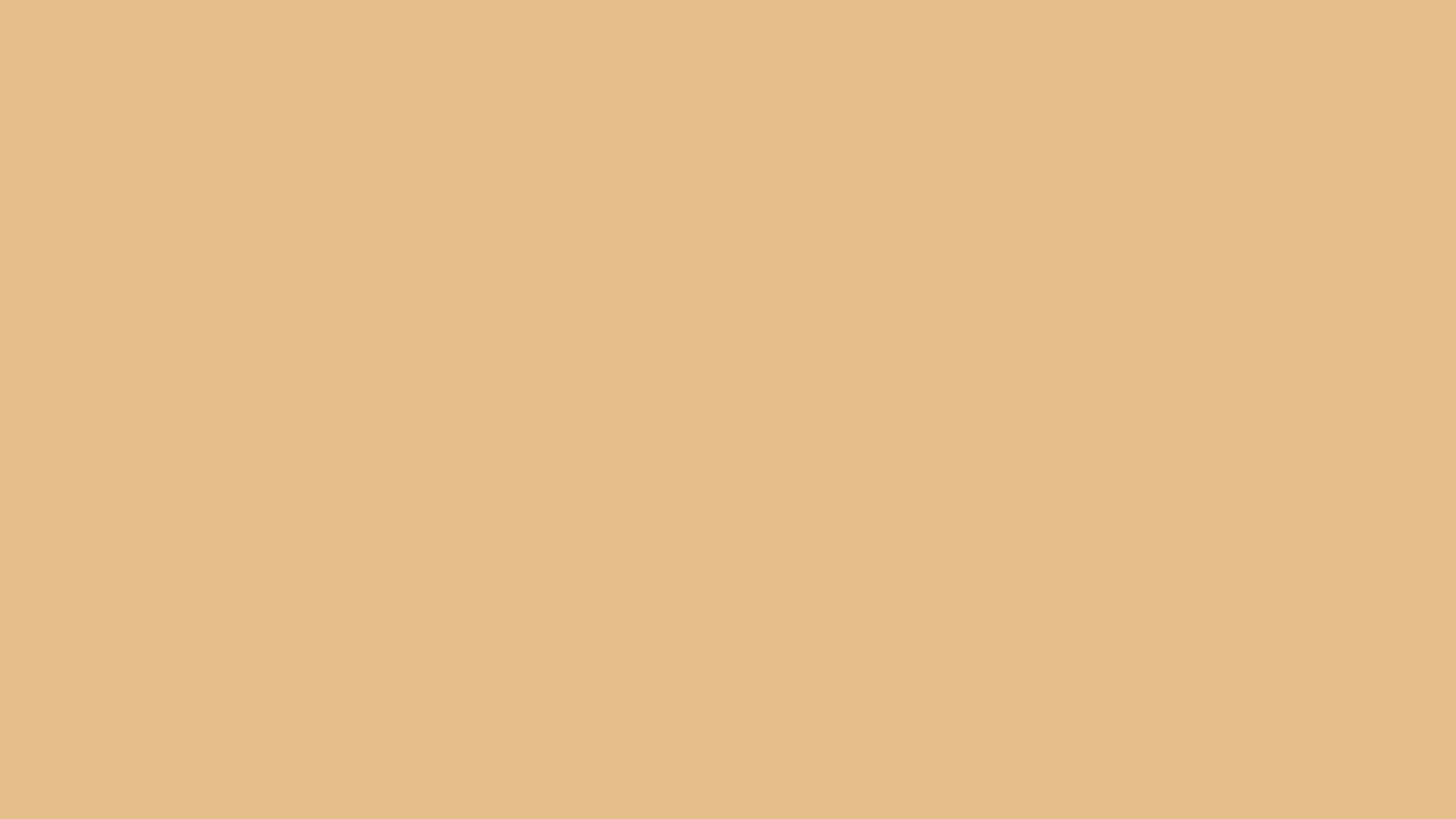 2560x1440 Pale Gold Solid Color Background