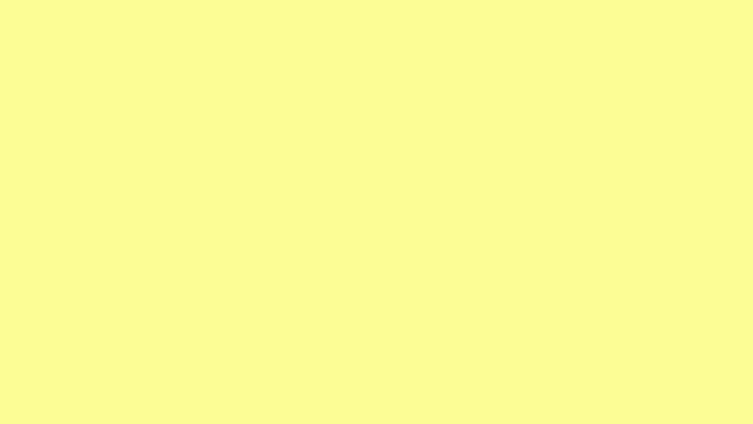 2560x1440 Pastel Yellow Solid Color Background