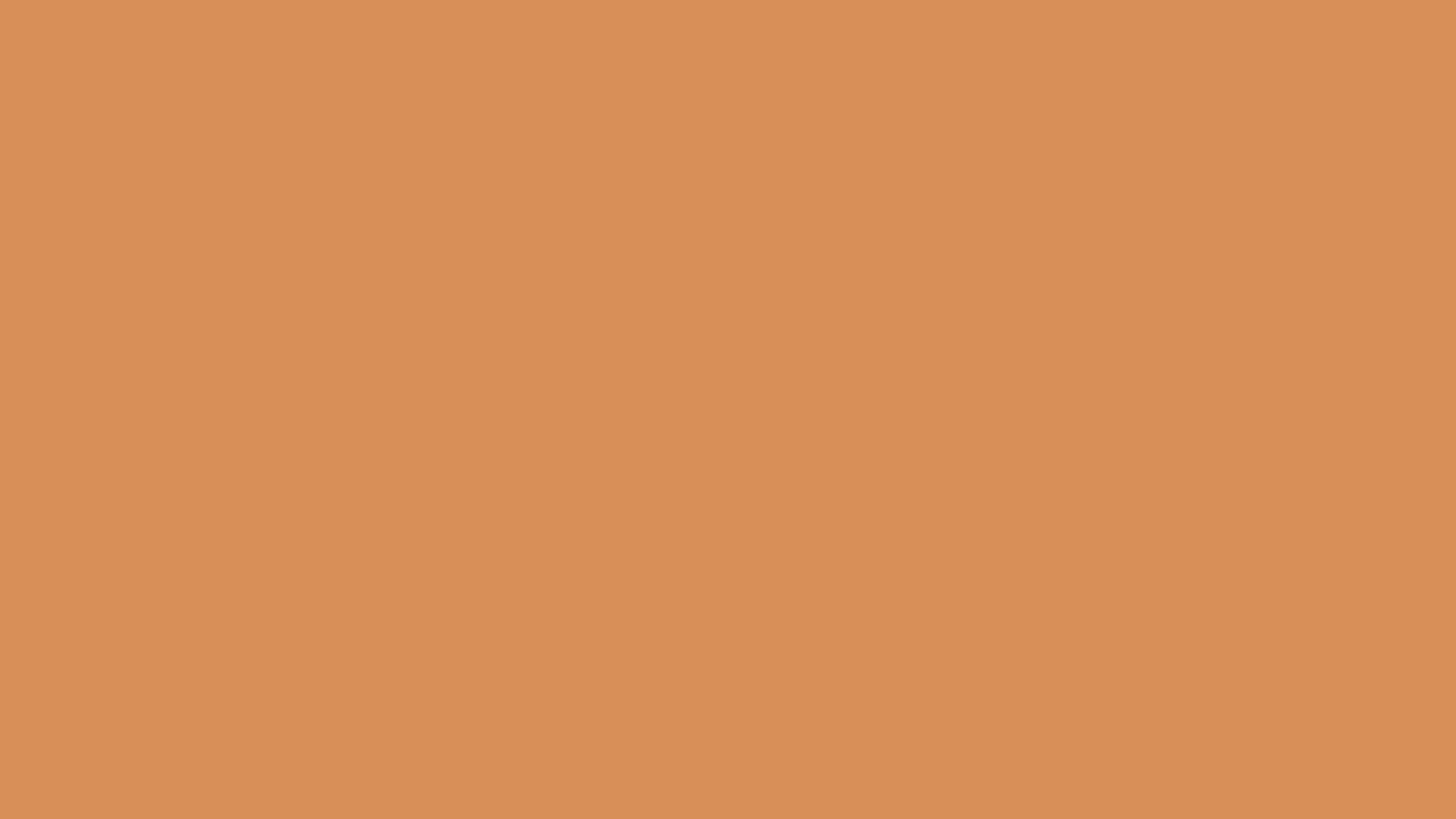 2560x1440 Persian Orange Solid Color Background