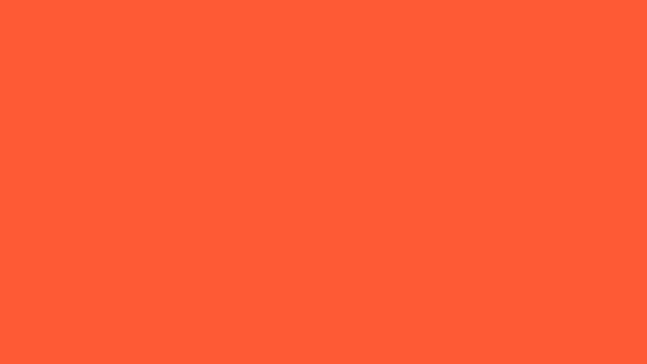 2560x1440 Portland Orange Solid Color Background