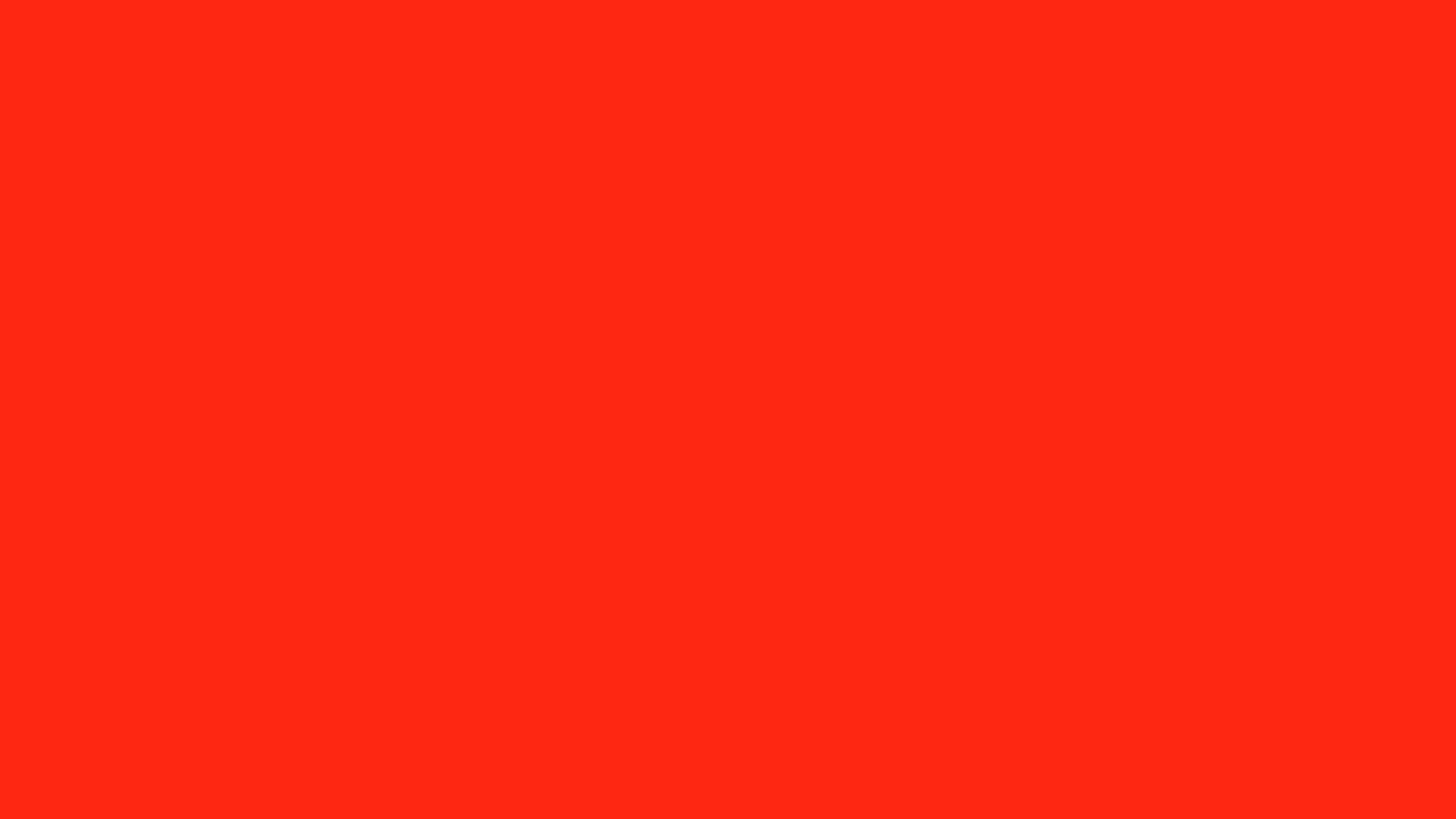 2560x1440 Red RYB Solid Color Background