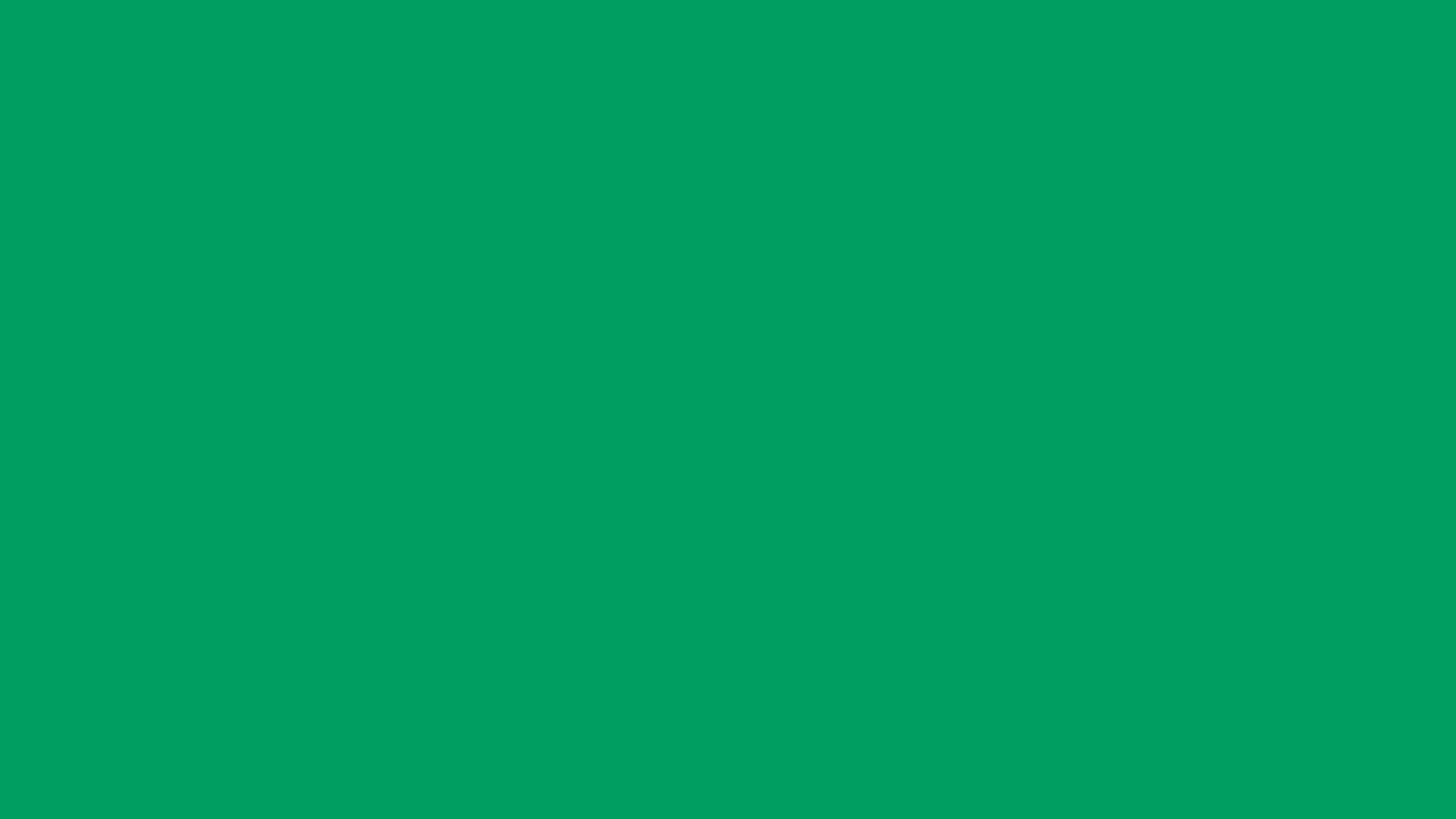 2560x1440 Shamrock Green Solid Color Background