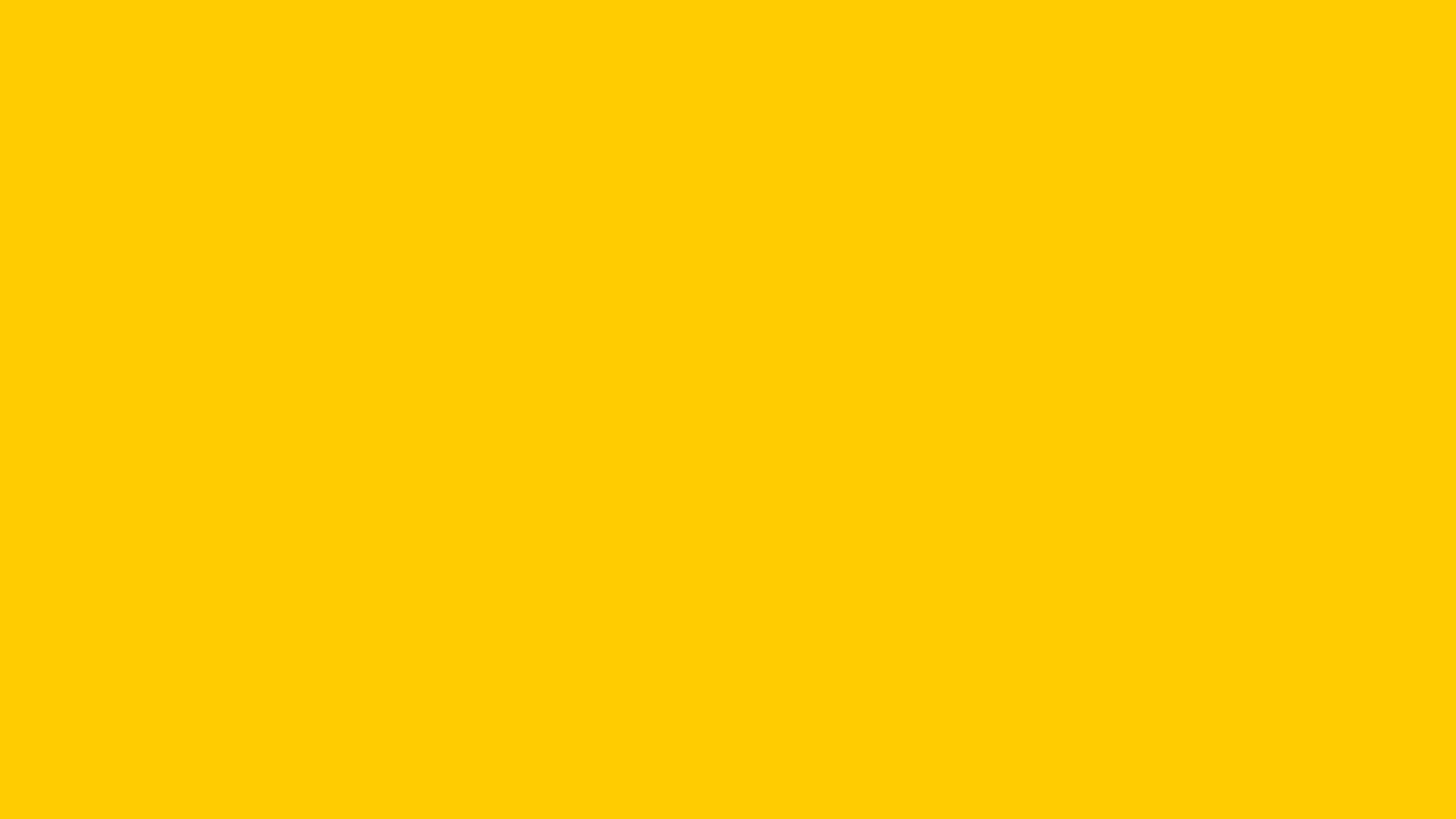 2560x1440 Tangerine Yellow Solid Color Background