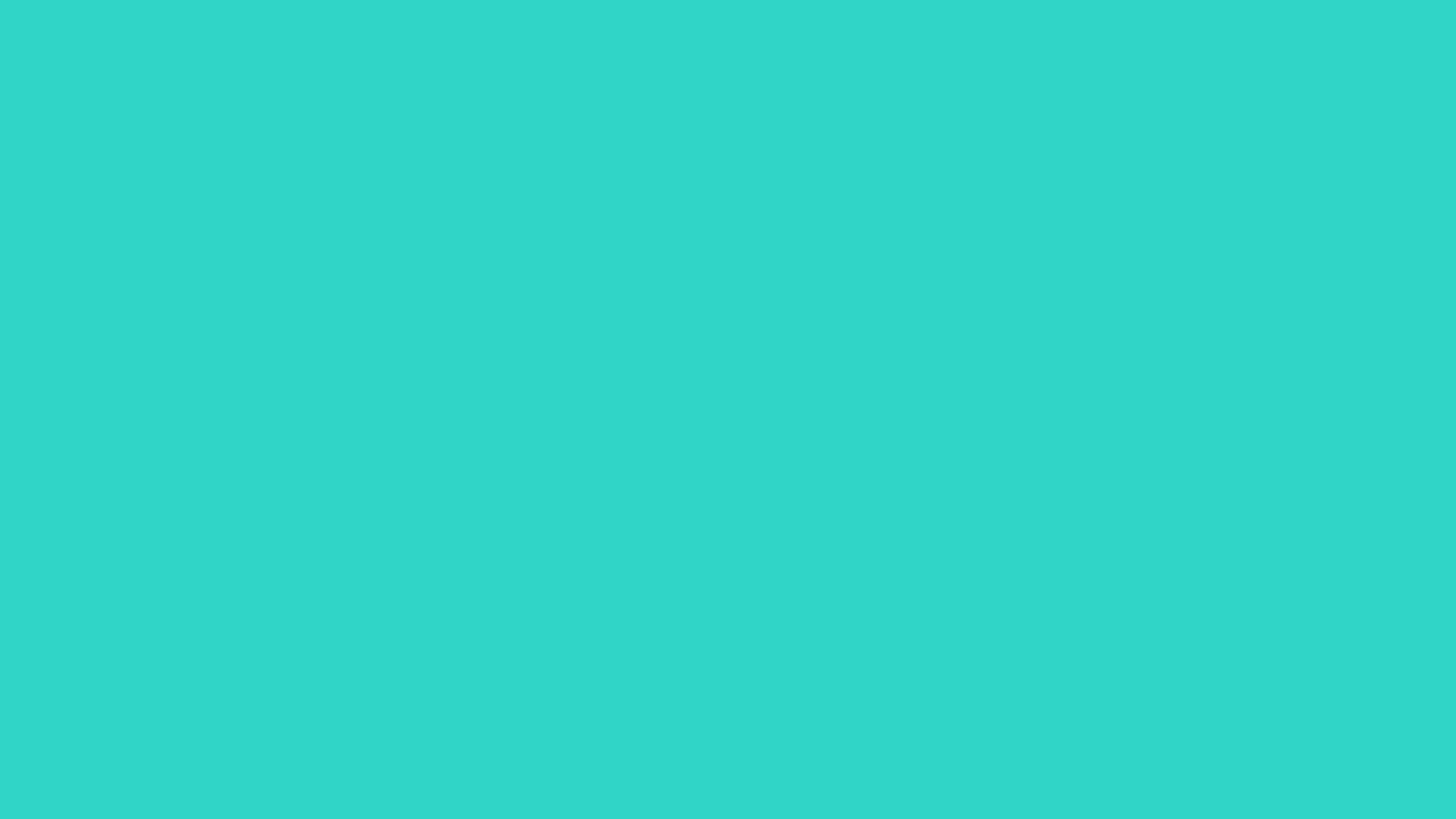 2560x1440 Turquoise Solid Color Background