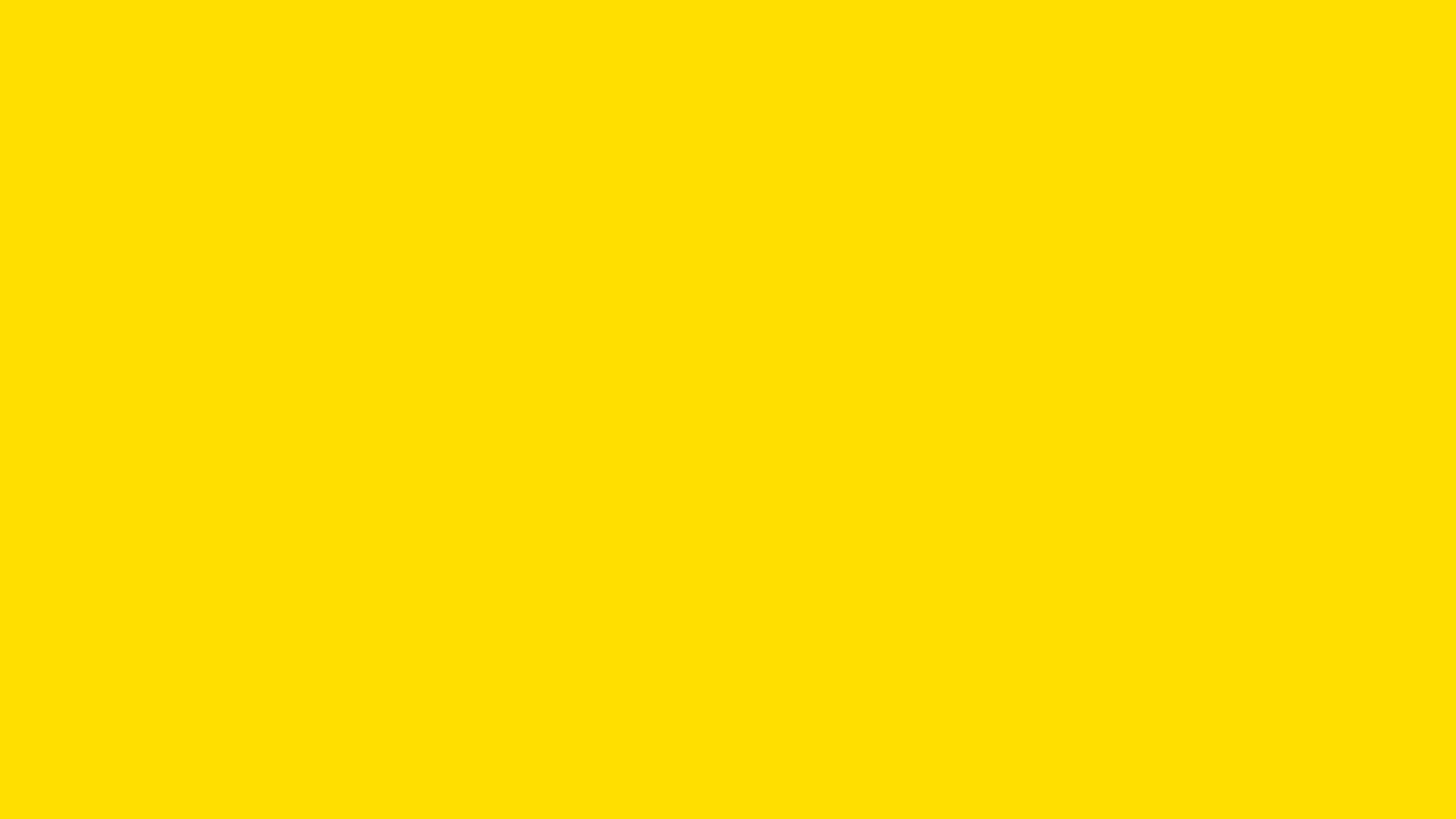 2560x1440 Yellow Pantone Solid Color Background