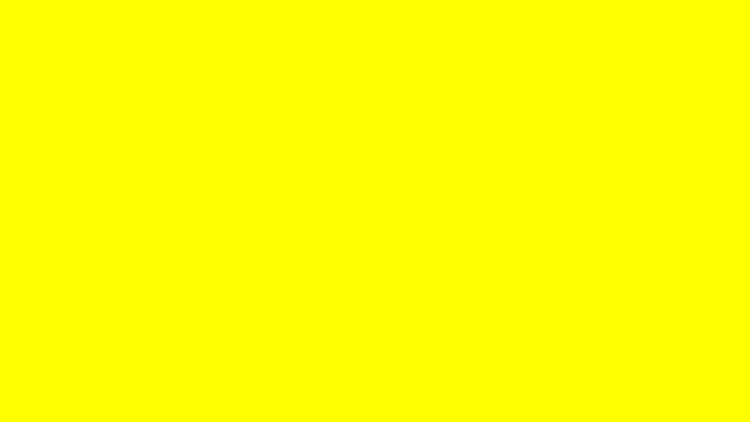 2560x1440 Yellow Solid Color Background