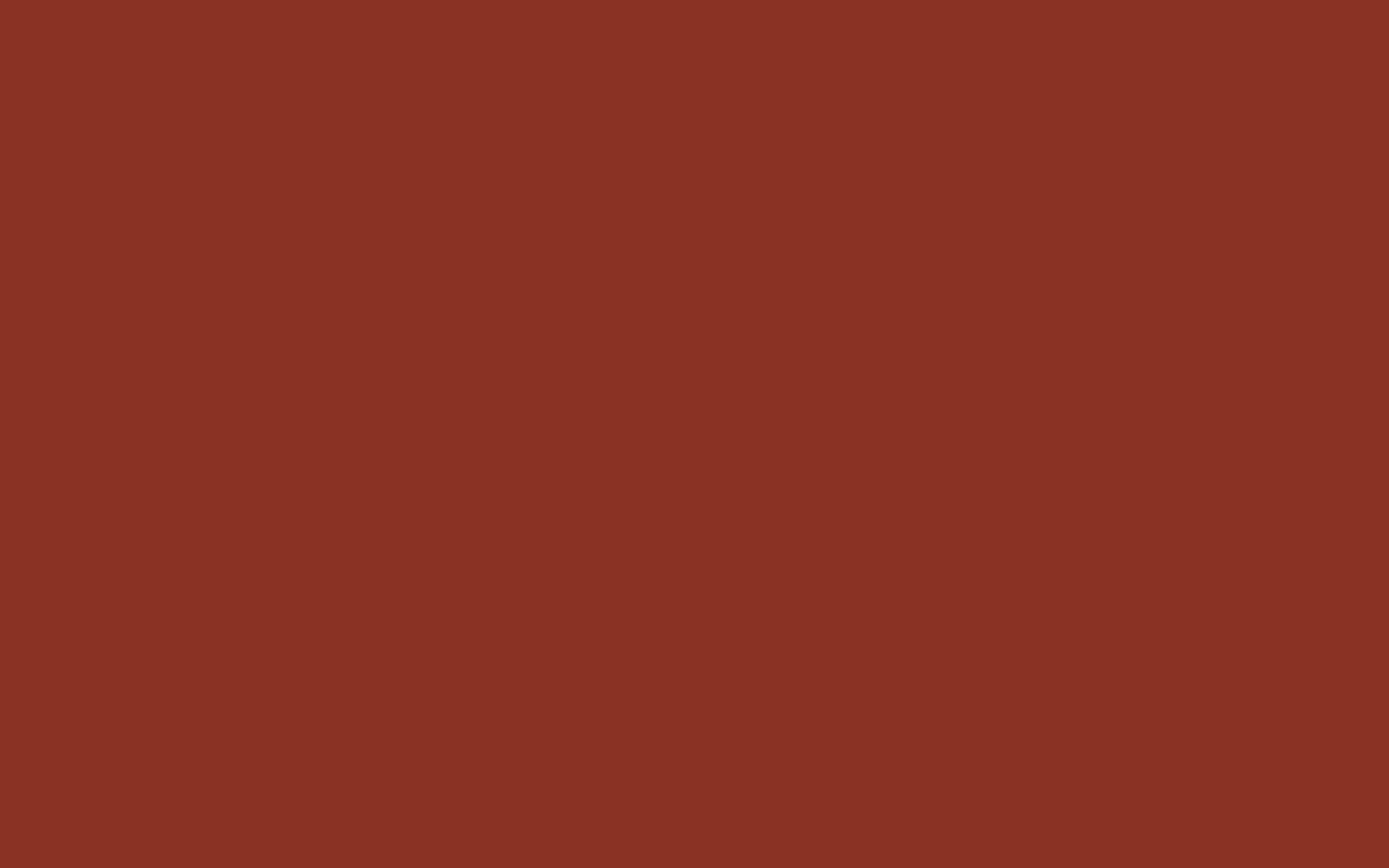 2880x1800 Burnt Umber Solid Color Background