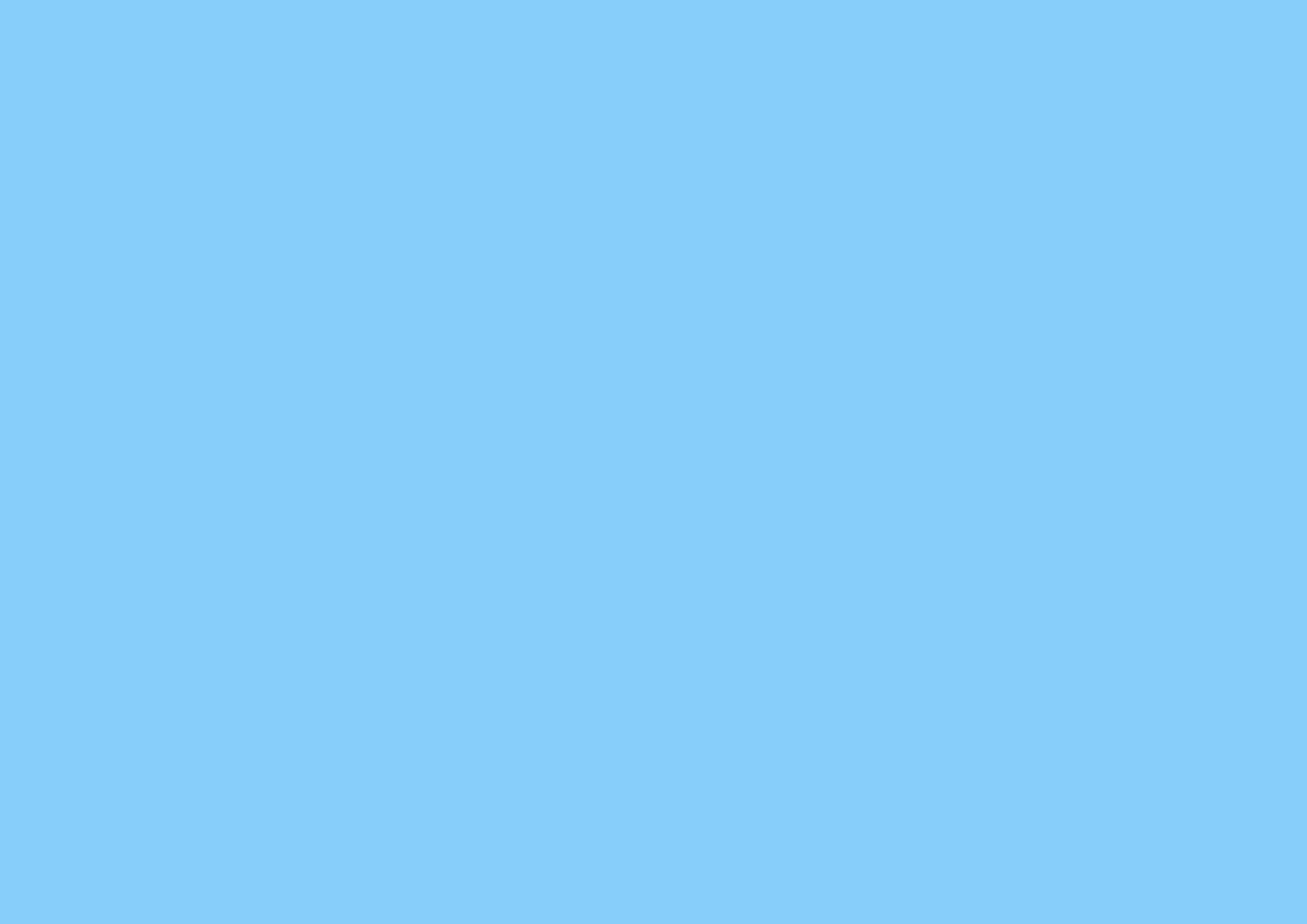 3508x2480 Light Sky Blue Solid Color Background