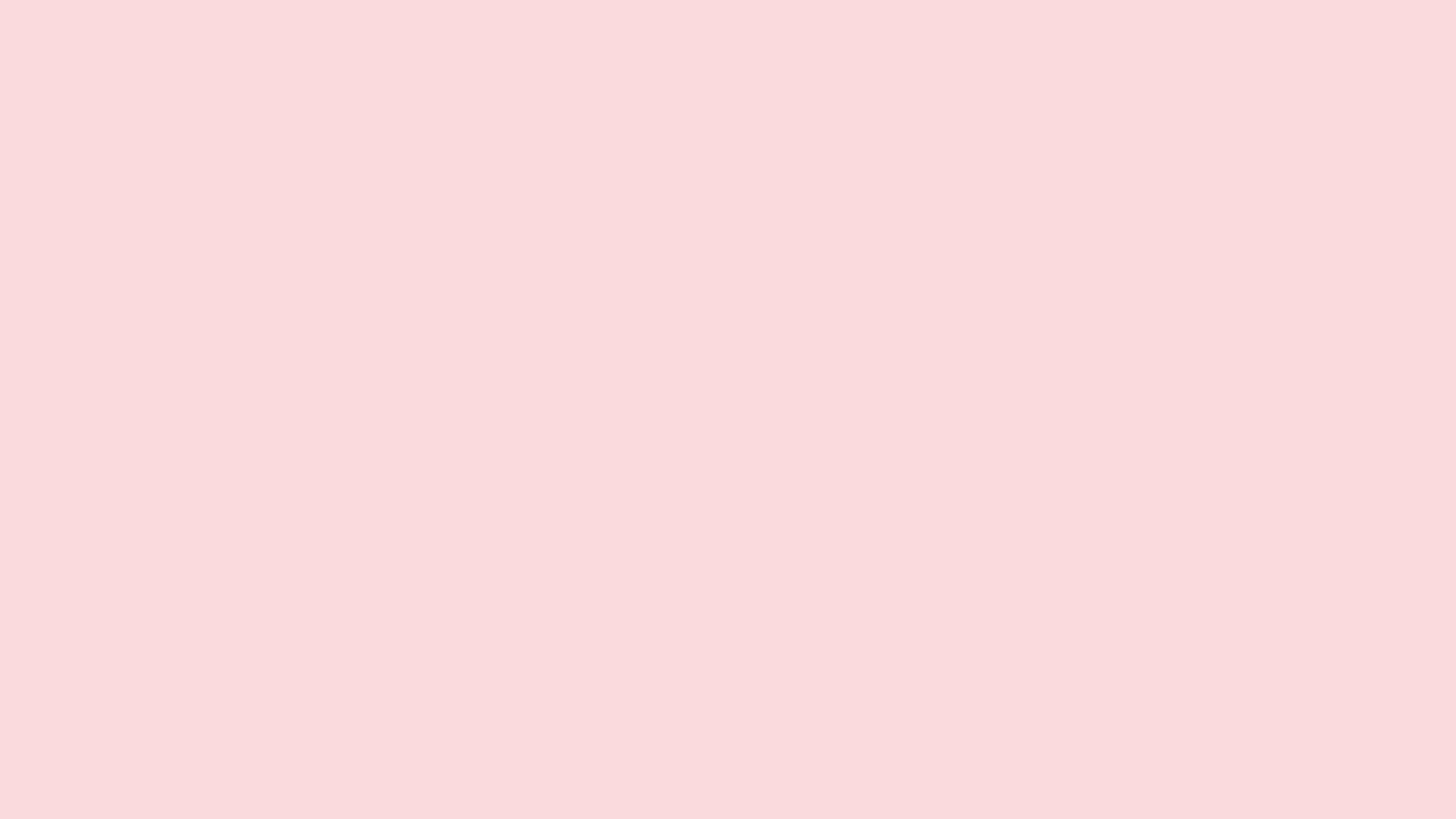 3840x2160 Pale Pink Solid Color Background