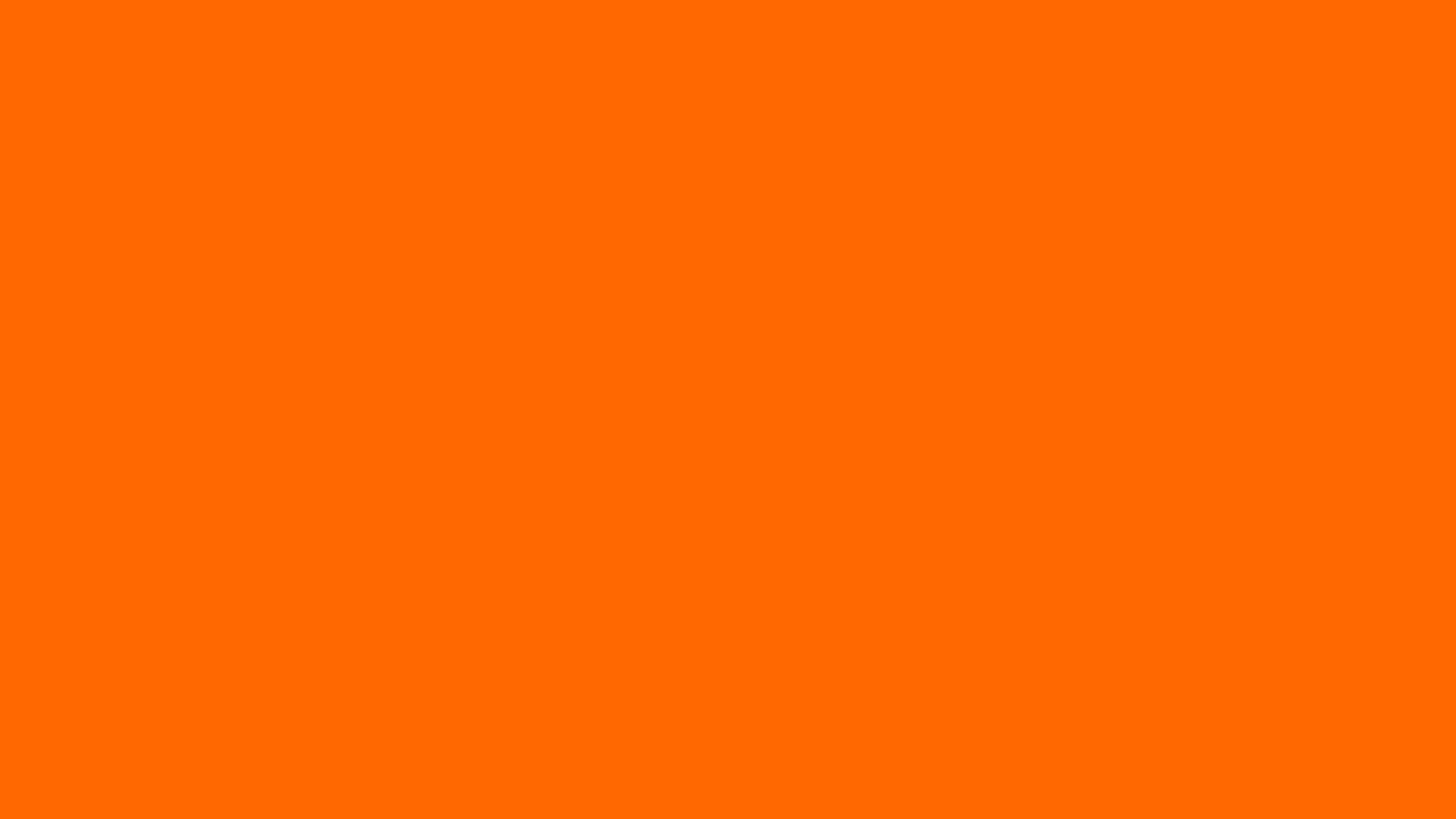 3840x2160 Safety Orange Blaze Orange Solid Color Background