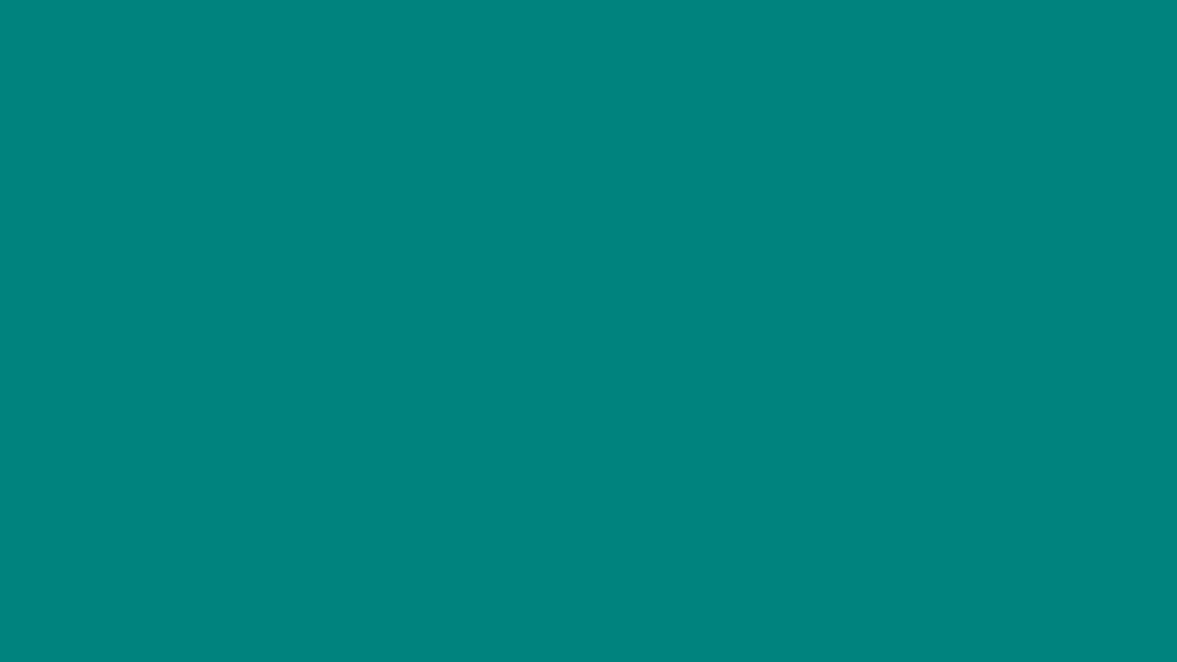 3840x2160 Teal Green Solid Color Background