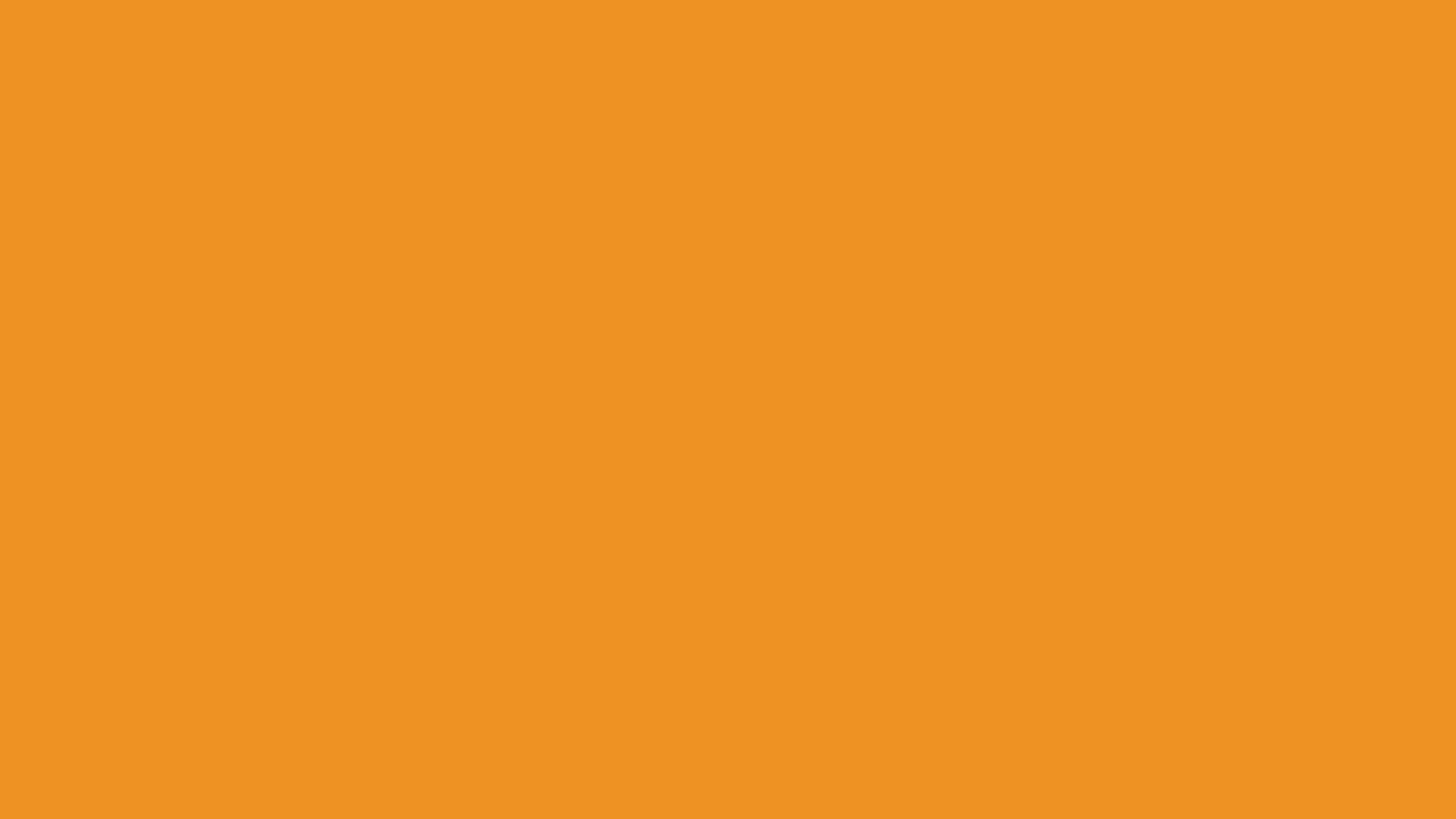 4096x2304 Carrot Orange Solid Color Background
