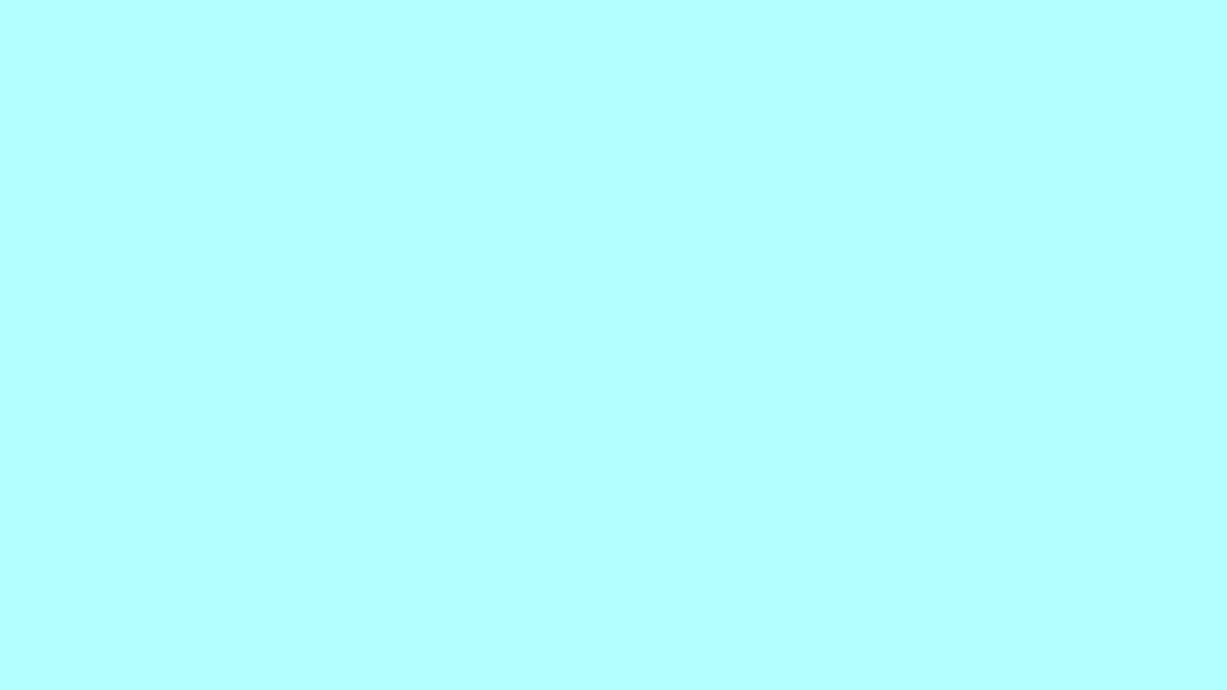 4096x2304 Celeste Solid Color Background