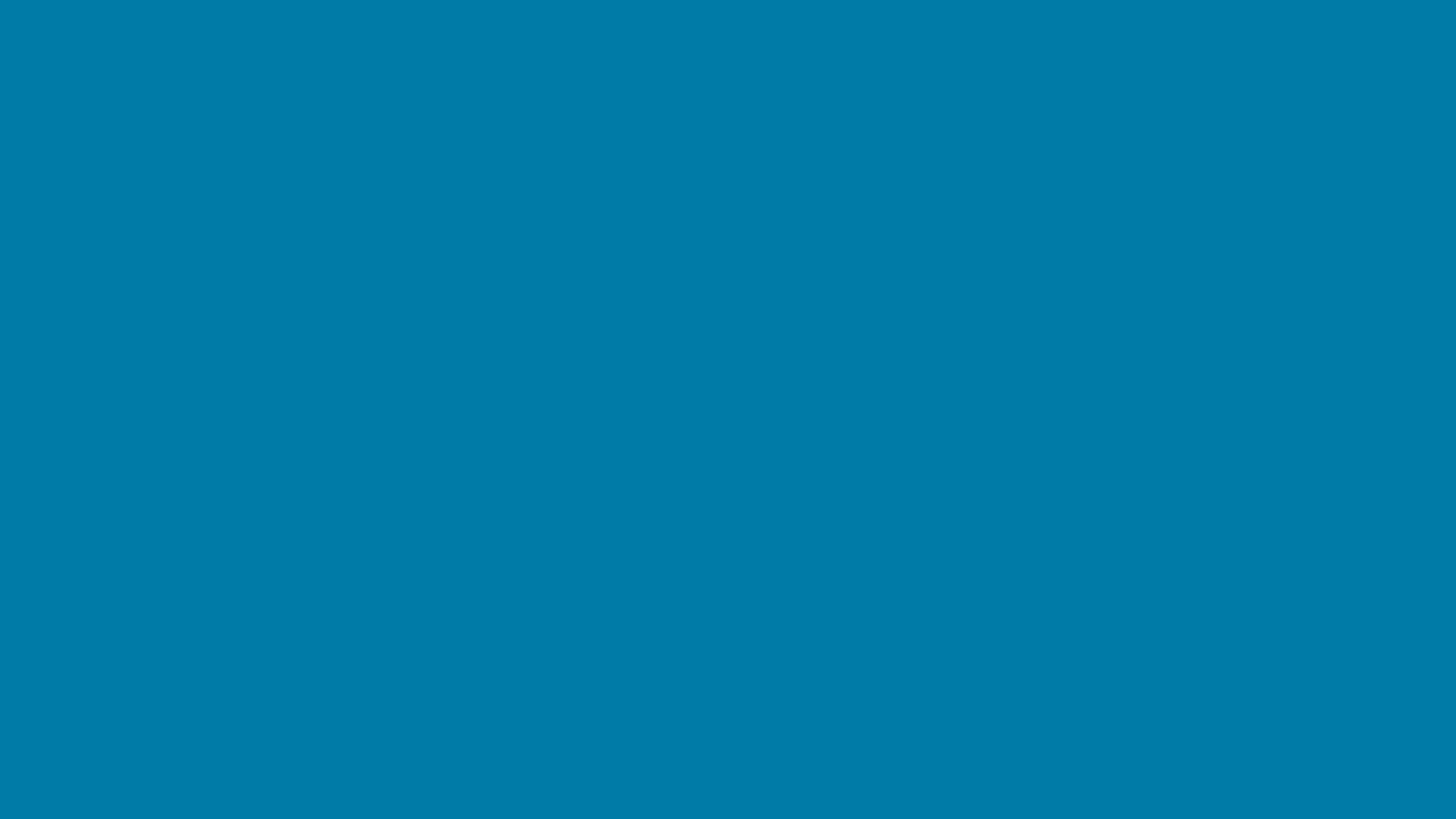 4096x2304 Cerulean Solid Color Background