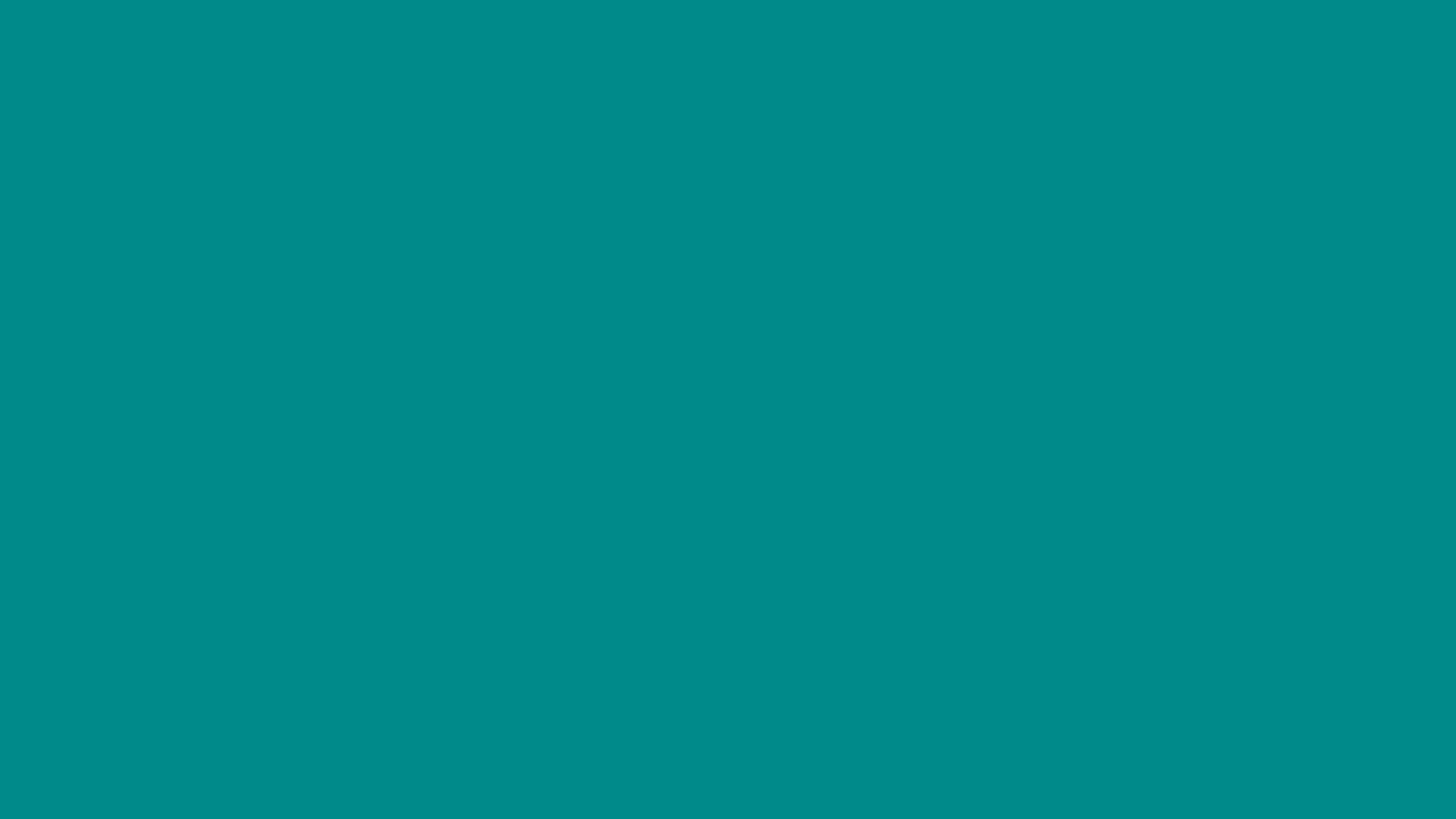 4096x2304 Dark Cyan Solid Color Background