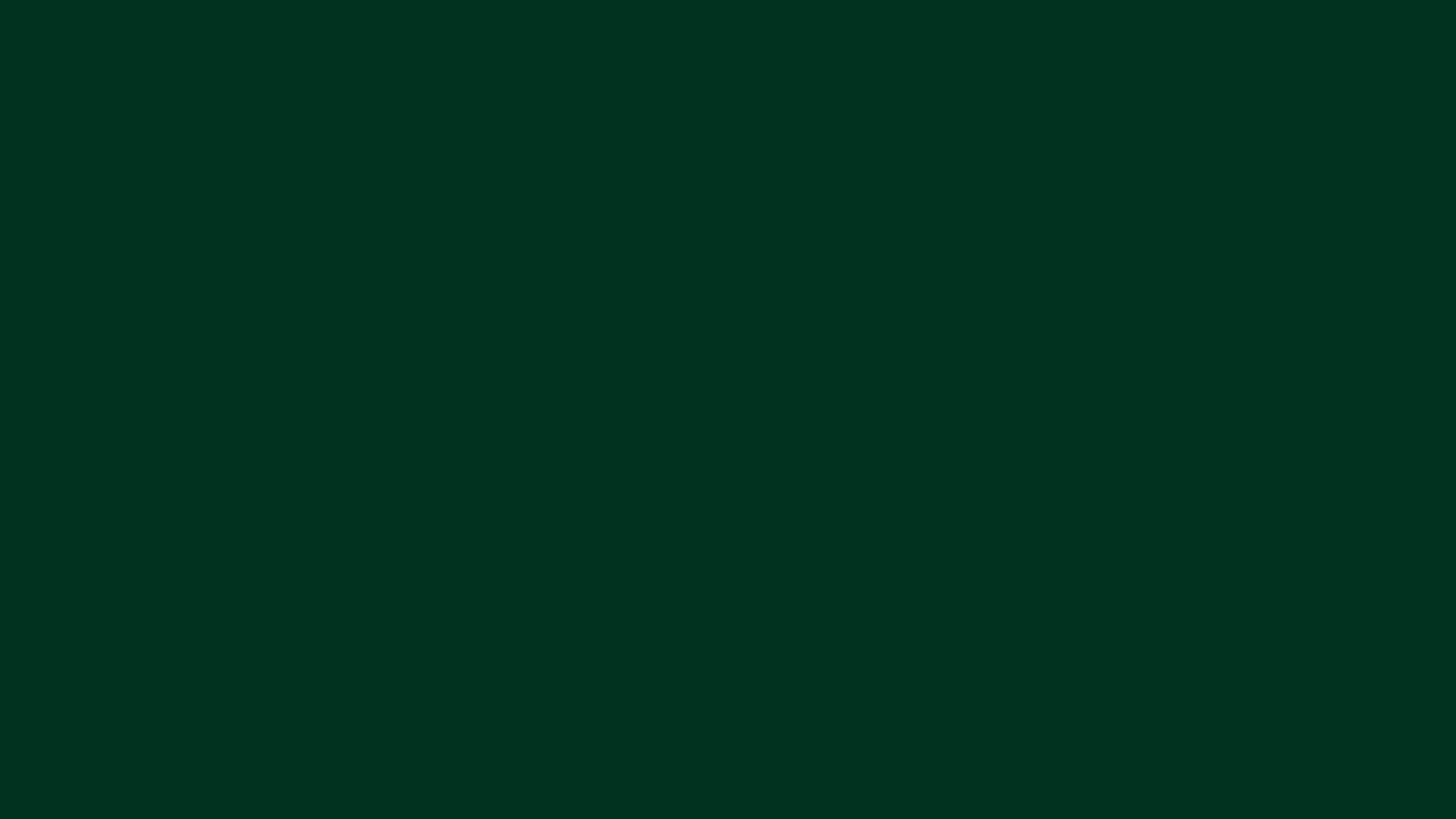 4096x2304 Dark Green Solid Color Background